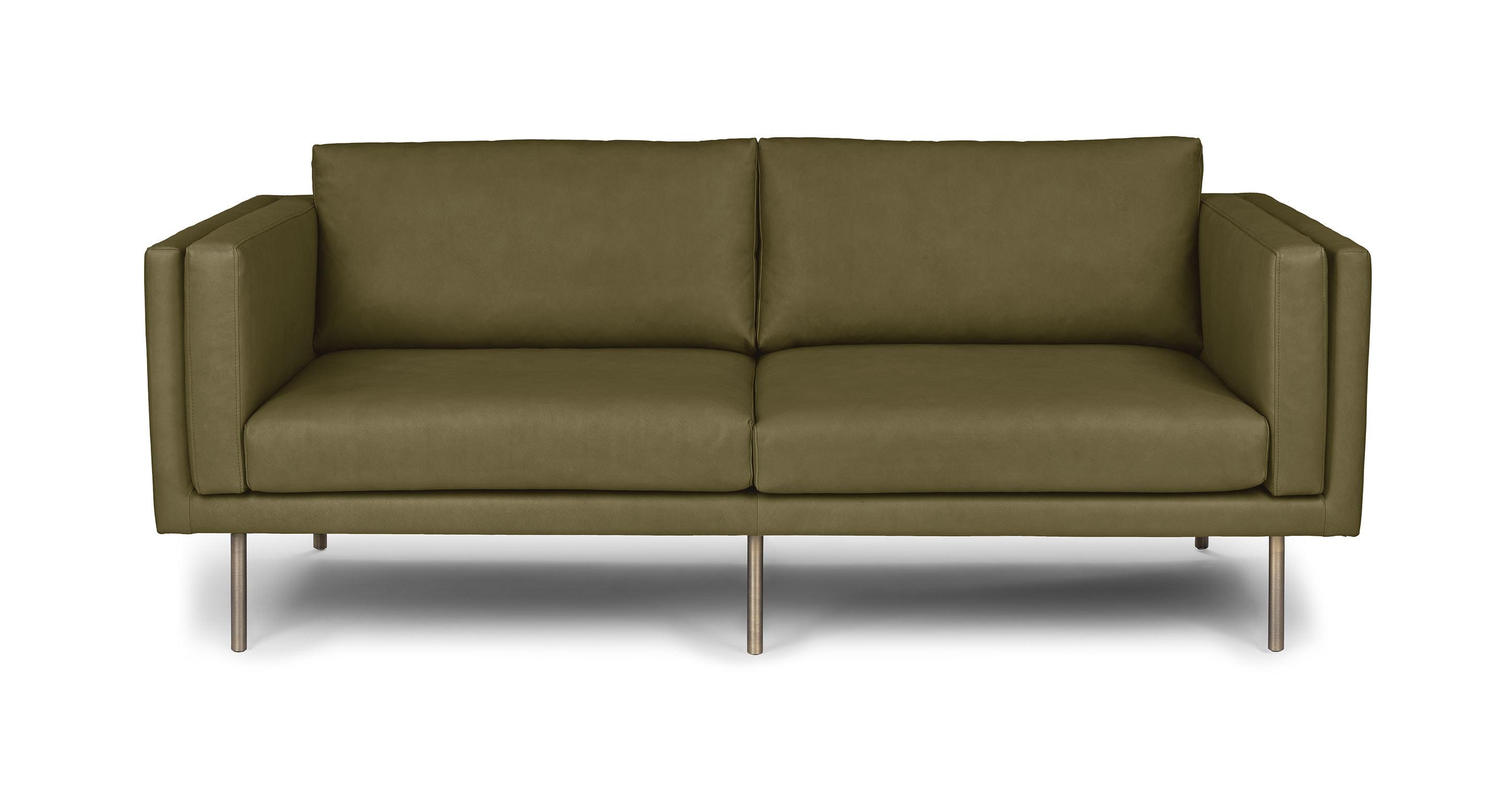 Belez Yuma Olive Green 73 Quot Sofa Sofas Article Modern