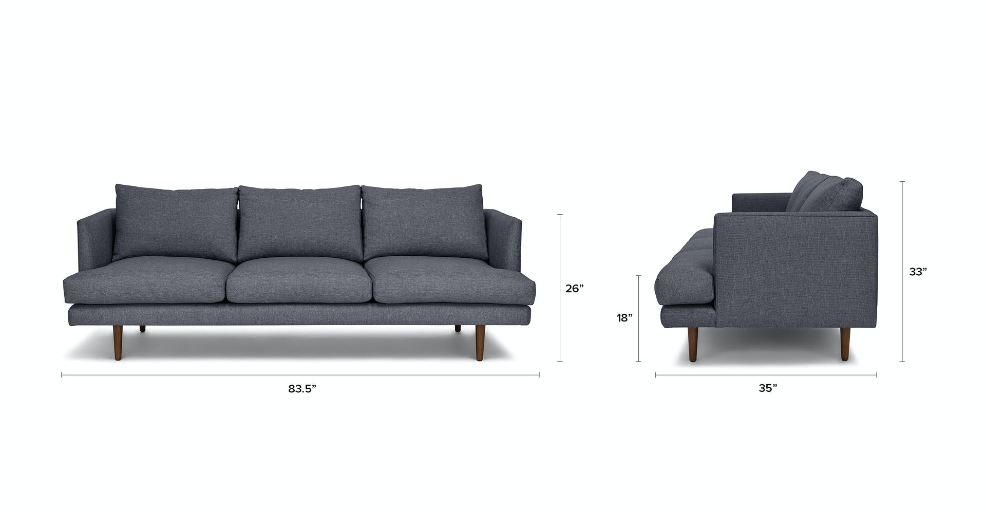Awesome Stone Blue Burrard 3 Seater Fabric Sofa Article Gamerscity Chair Design For Home Gamerscityorg