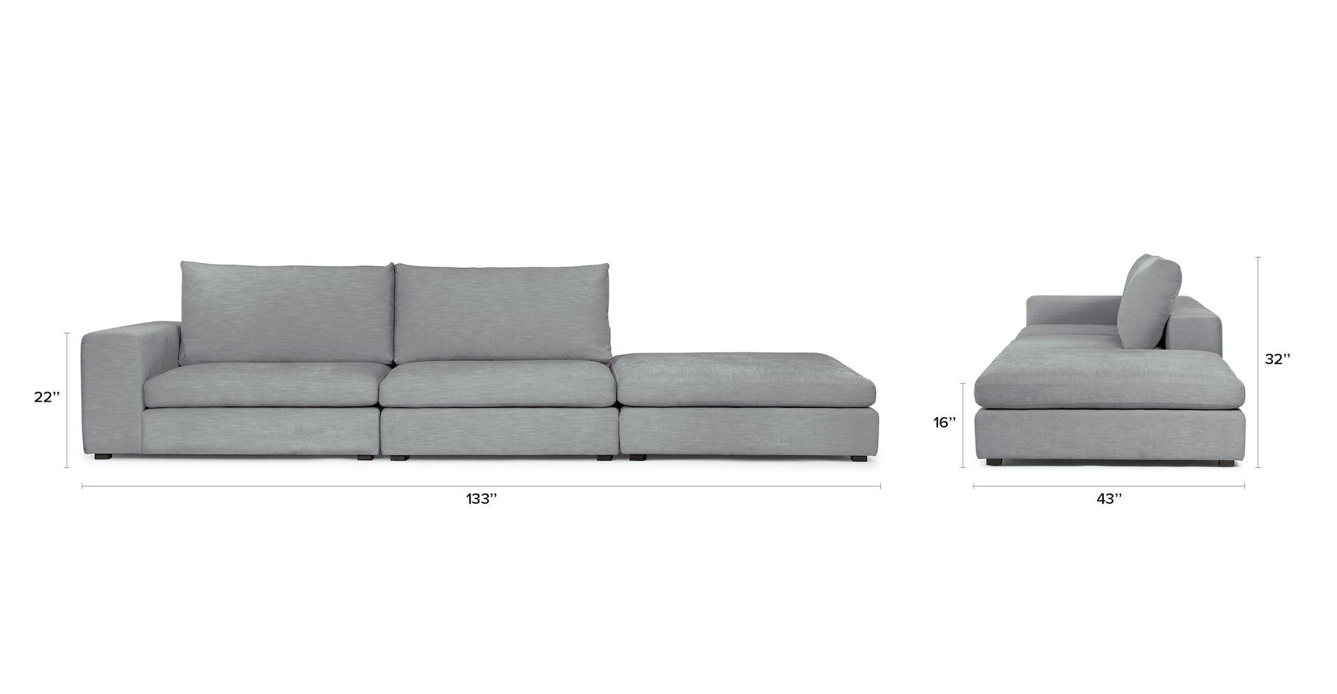 Gaba Gull Gray Left Arm Modular Sofa