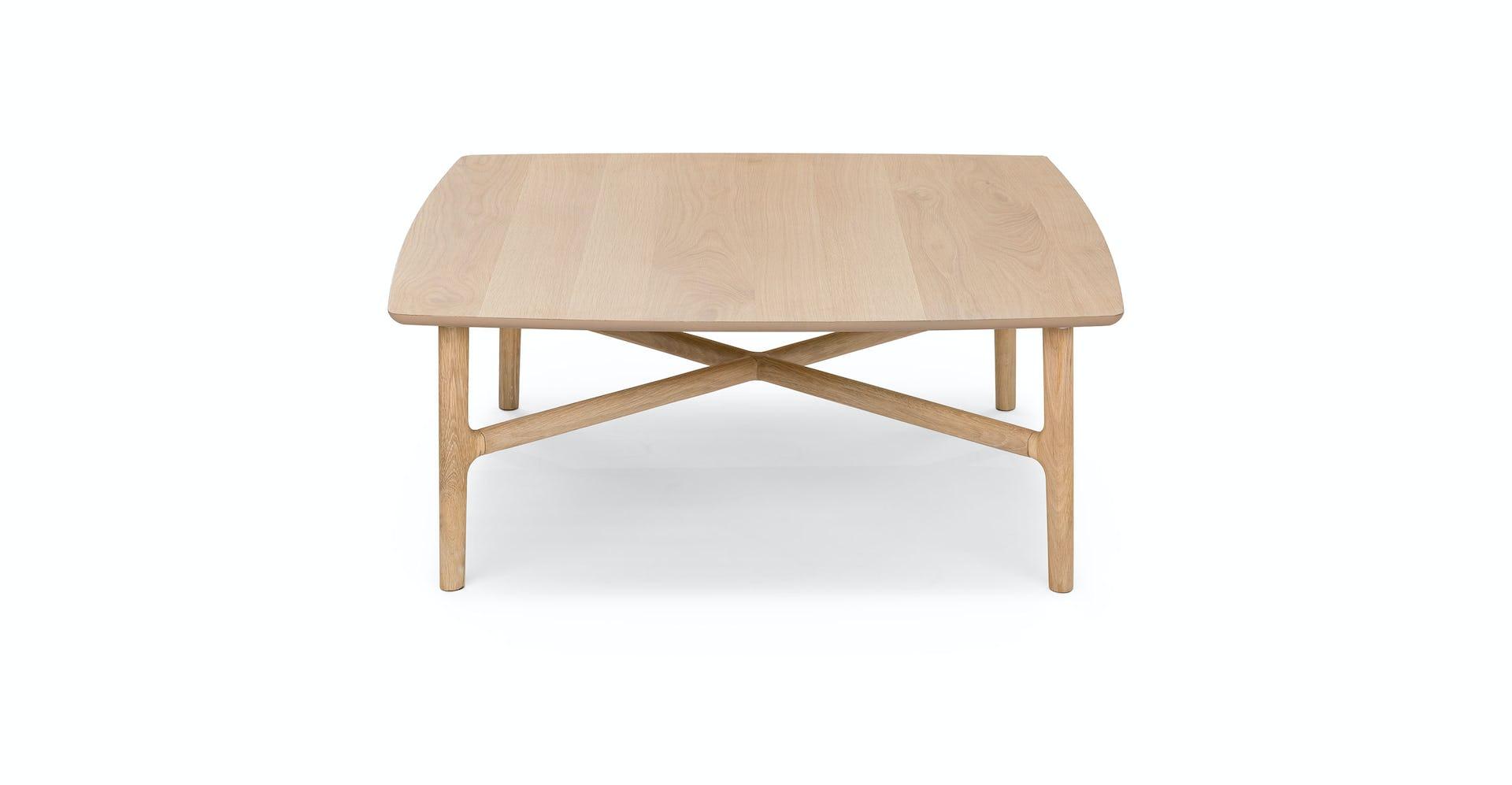 Tremendous Brezza Light Oak Square Coffee Table Machost Co Dining Chair Design Ideas Machostcouk