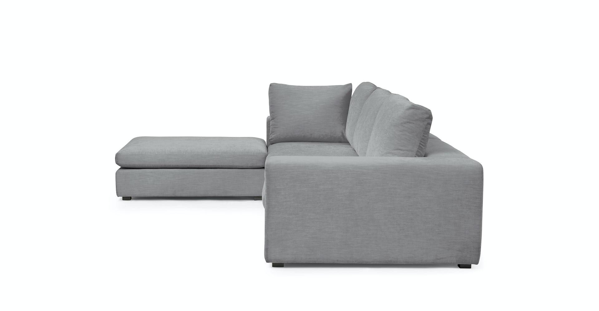 Fine Gaba Gull Gray Left Modular Sectional Ibusinesslaw Wood Chair Design Ideas Ibusinesslaworg