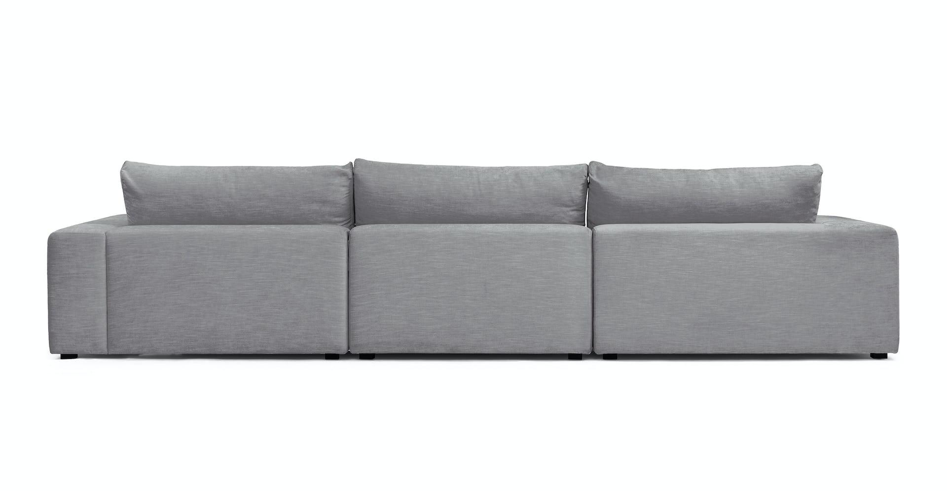 Remarkable Gaba Gull Gray Left Modular Sectional Ibusinesslaw Wood Chair Design Ideas Ibusinesslaworg