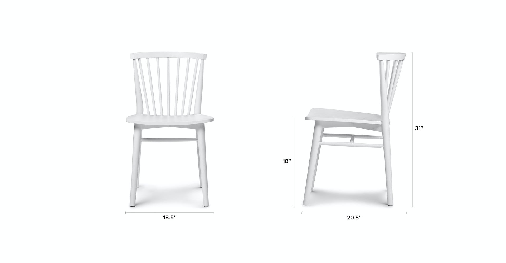 Rus White Dining Chair | Article