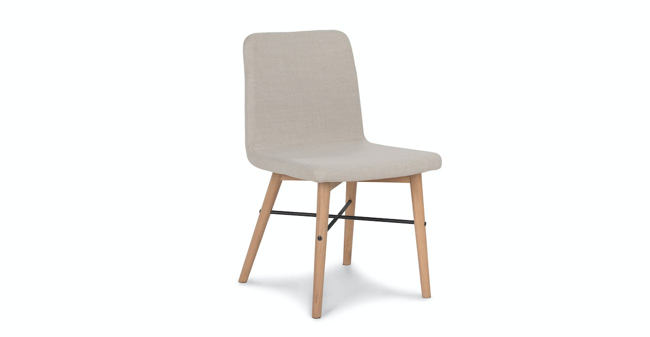 sports shoes 41e8c 3457c Fabric Dining Chair In Oak Wood   Article Kissa Mid-Century Modern Furniture
