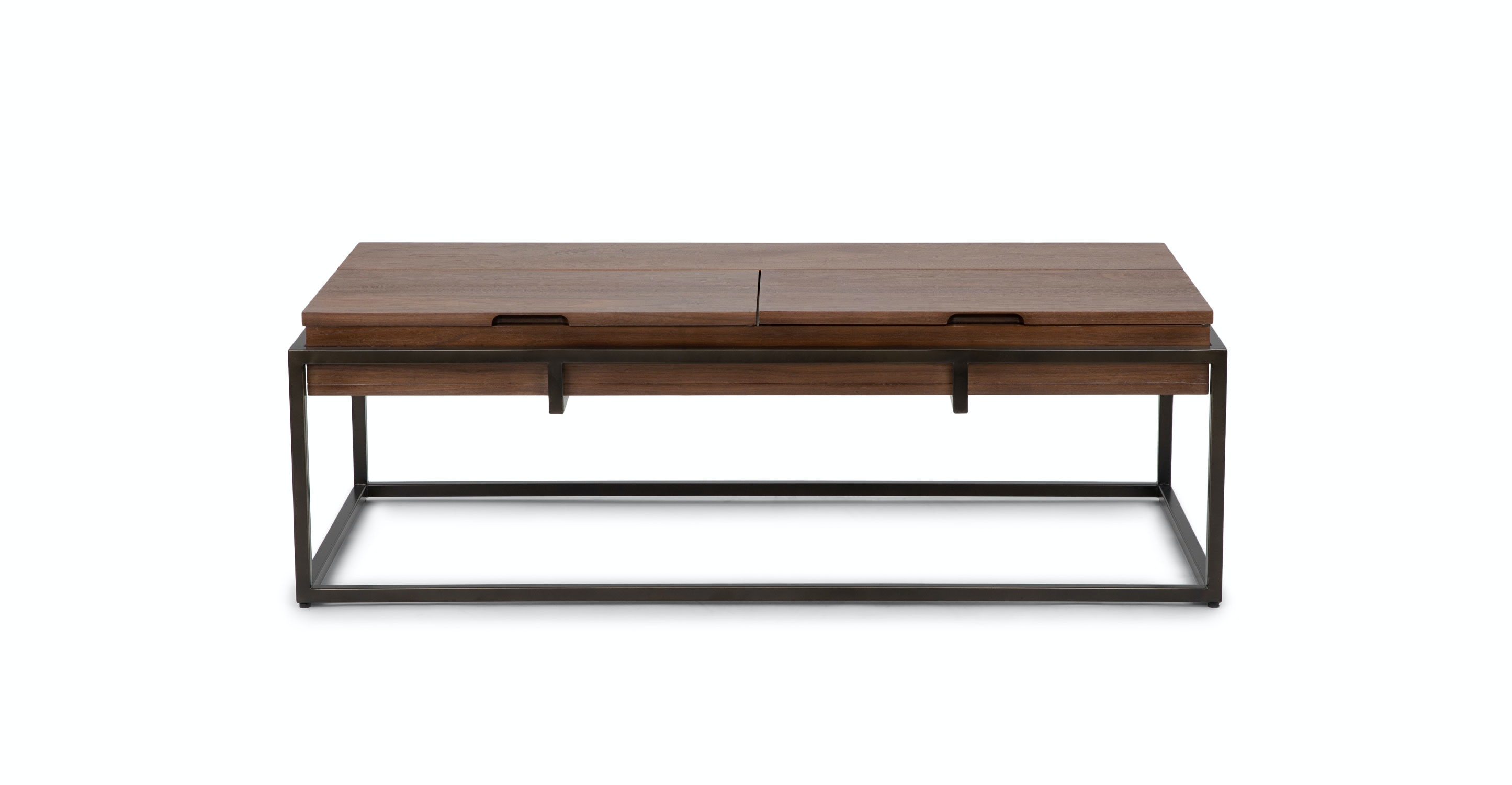 Superbe Oscuro Walnut Storage Coffee Table