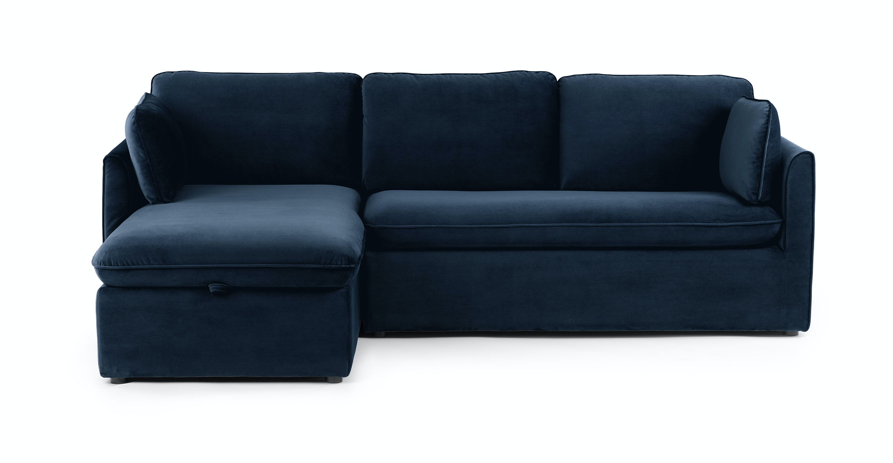 Oneira Tidal Blue Left Sofa Bed | Article