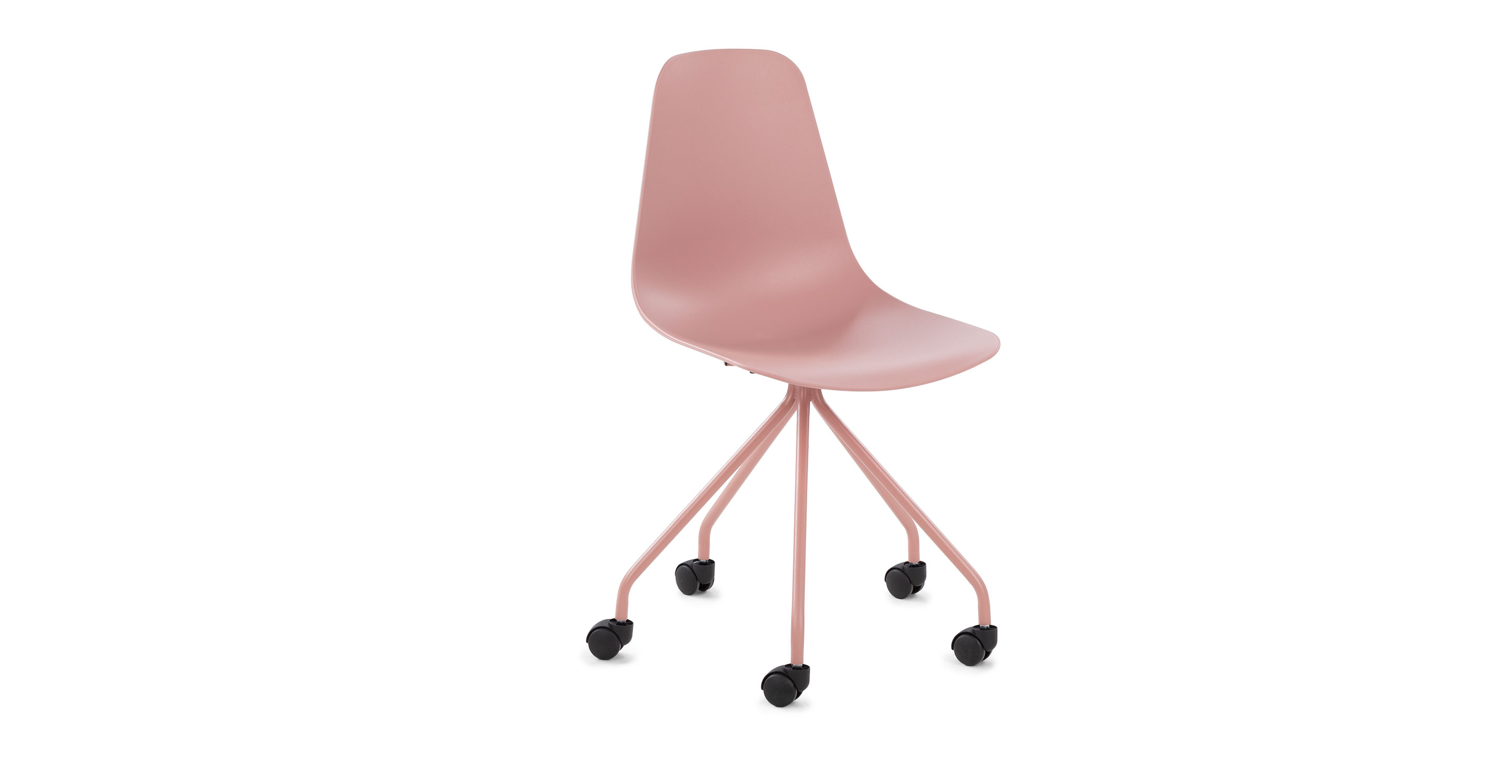 Dusty Pink Polypropylene Armless Office Chair Svelti Article
