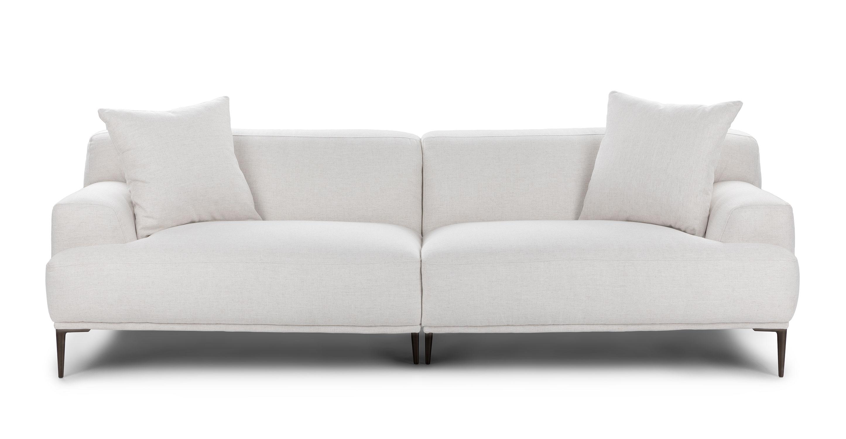 Quartz White 3 Seater Sofa Fabric Abisko Article