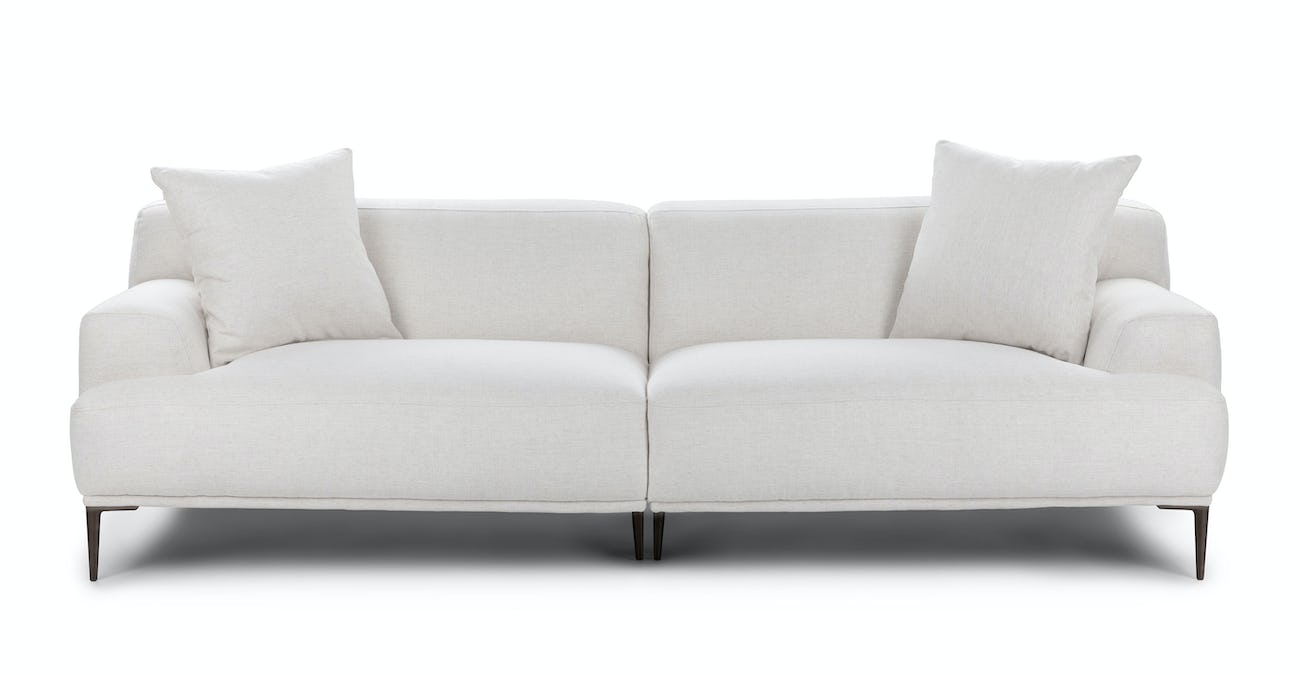 Maxwest P821 Contemporary White Genuine Italian Leather Sofa Set 3 Pcs
