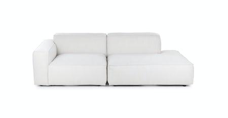 White Fabric Sofas Article
