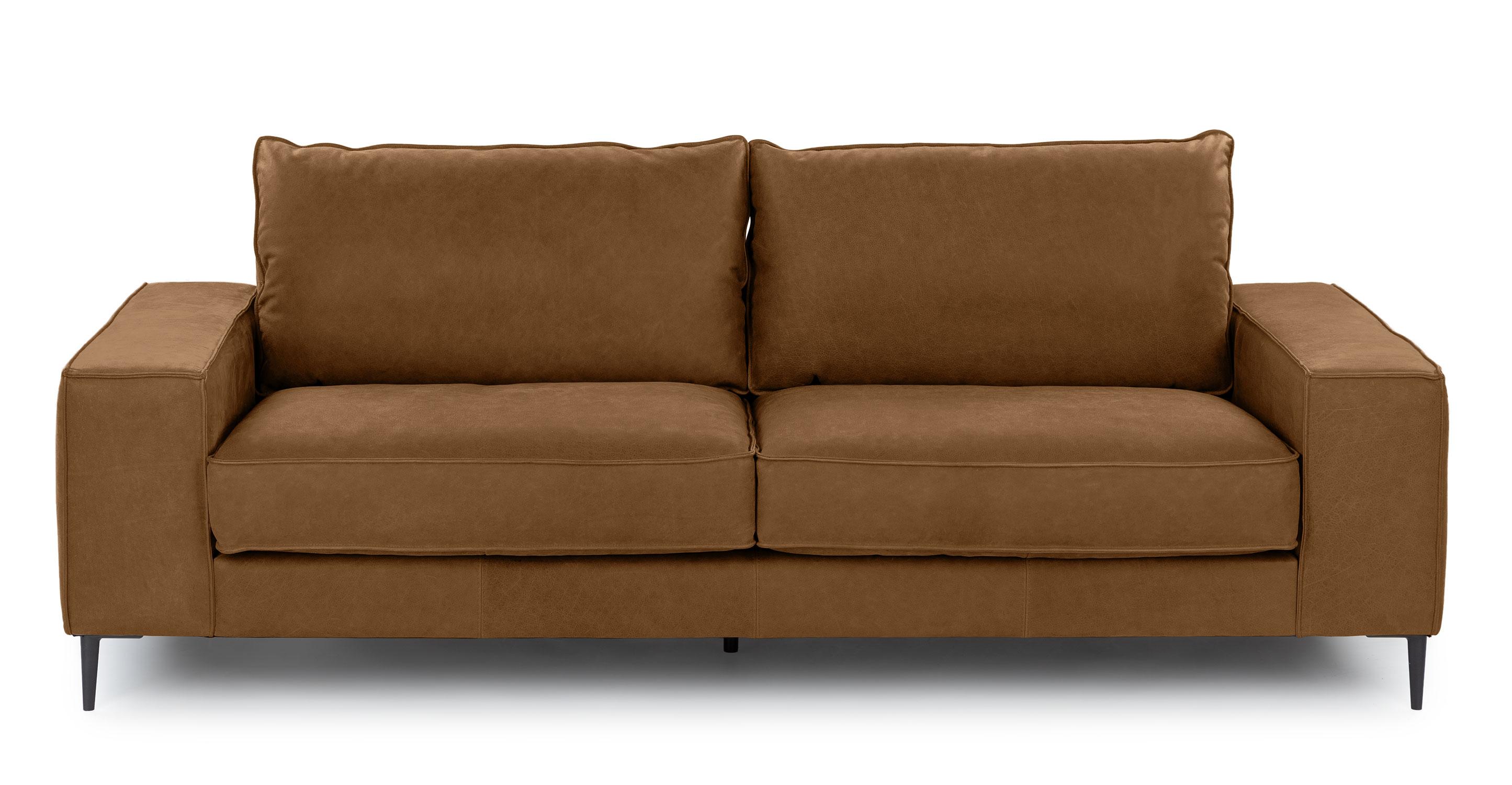 Tobacco Tan Tora Leather 2 Seater Sofa Article