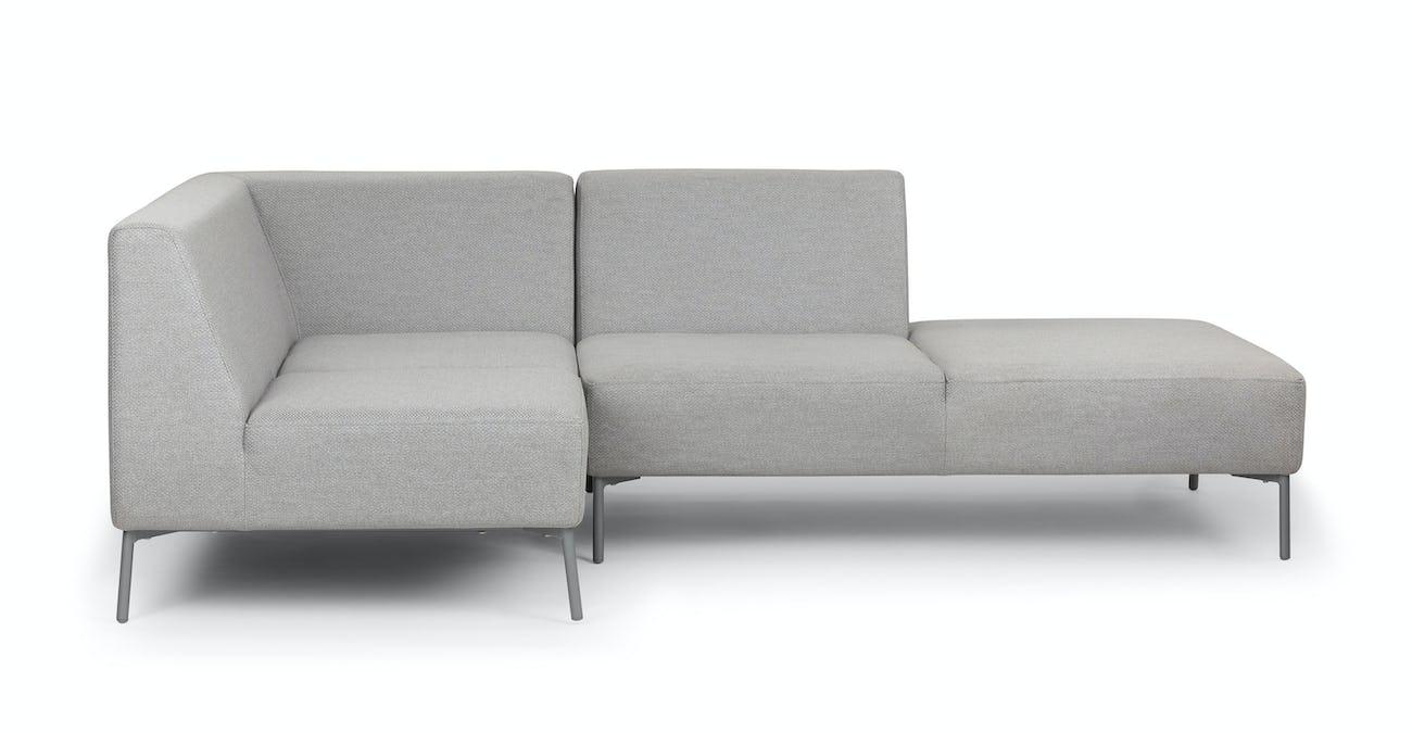 Light Gray Outdoor Sectional, Aluminium Frame   Article Tezra Outdoor  Furniture