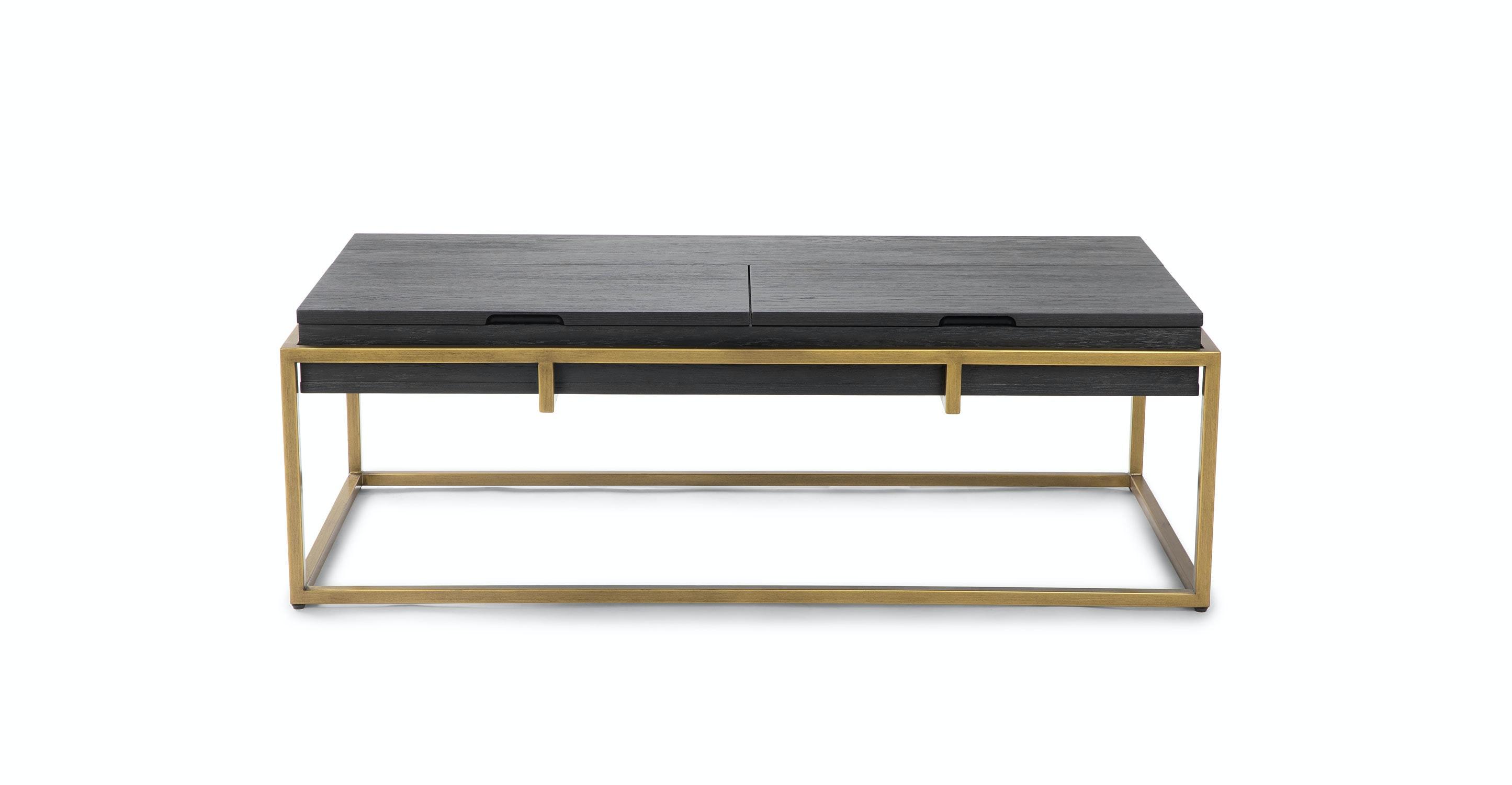 Oscuro Black Storage Coffee Table