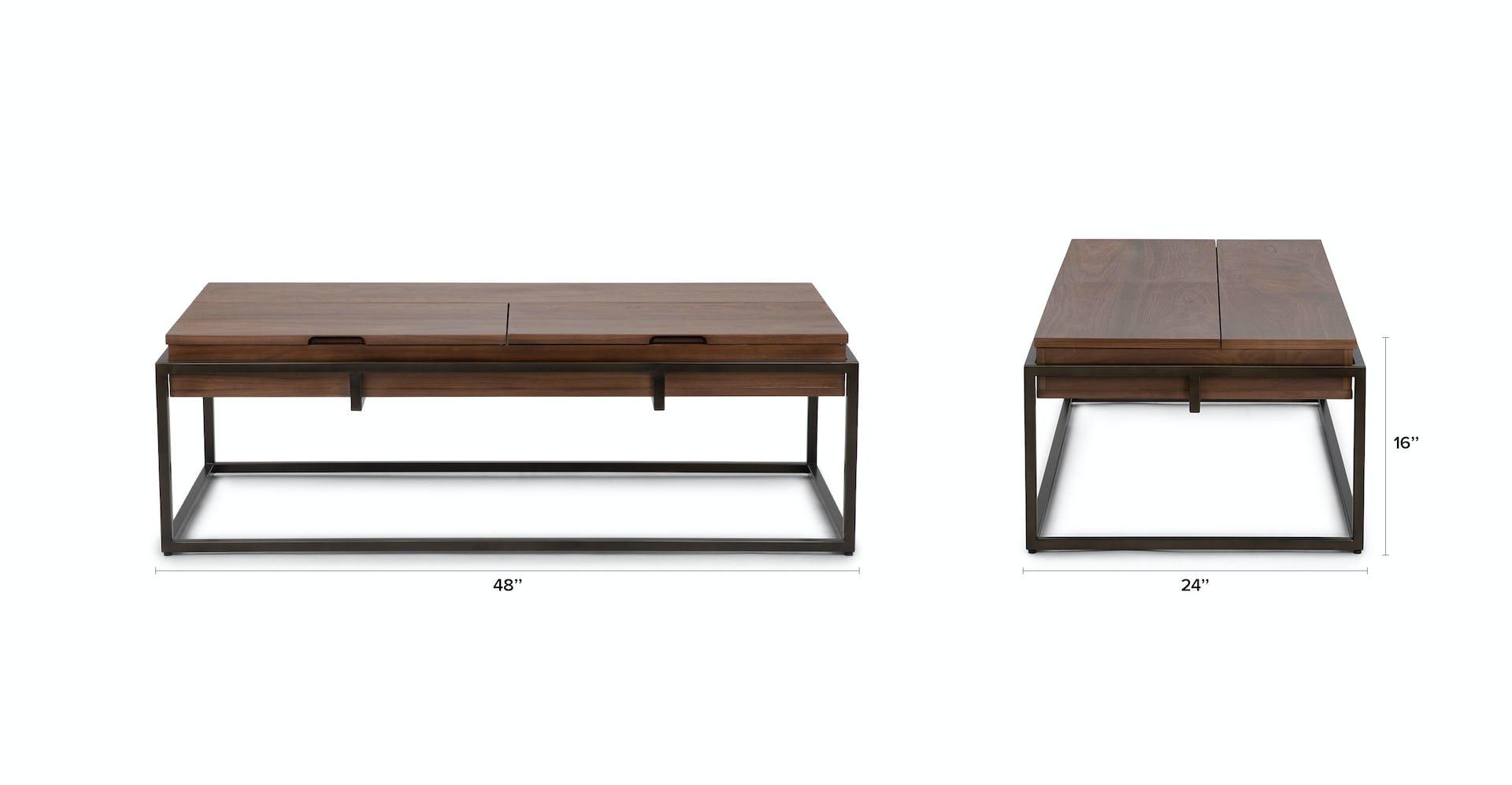 Oscuro Walnut Storage Coffee Table