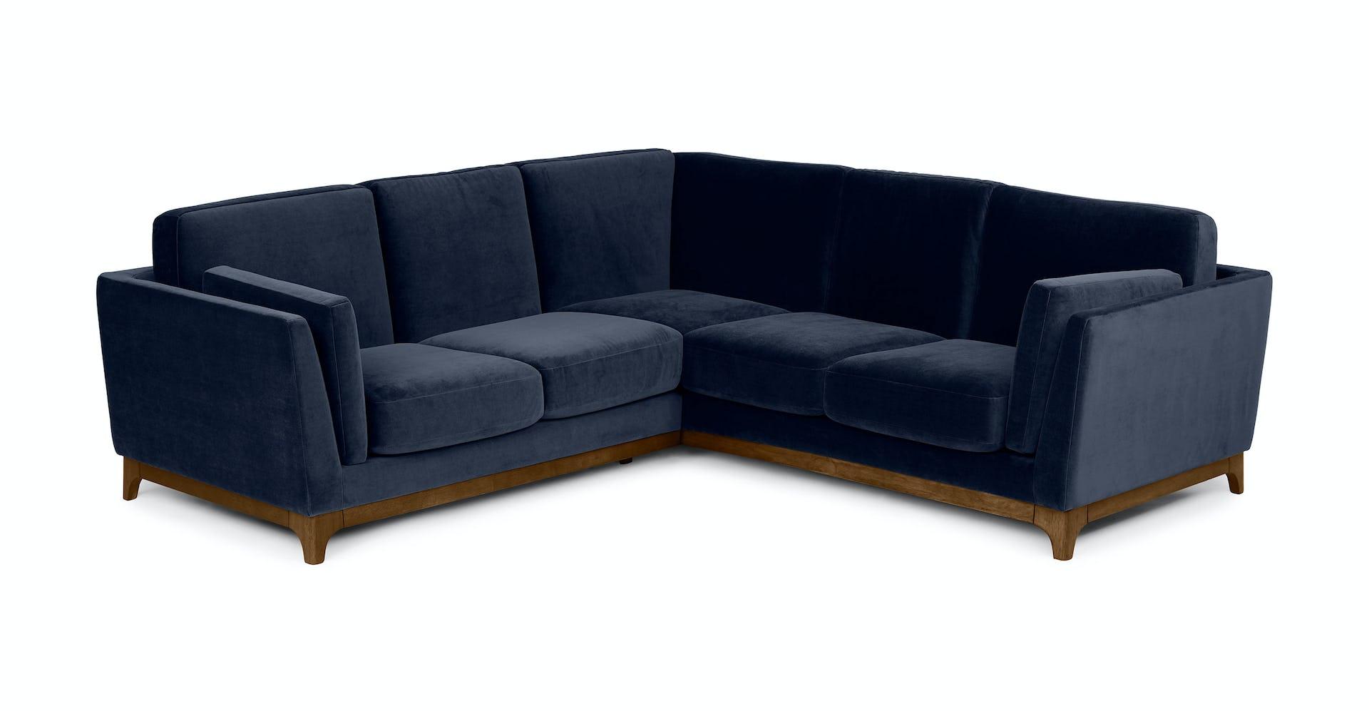 Ceni Maren Blue Corner Sectional