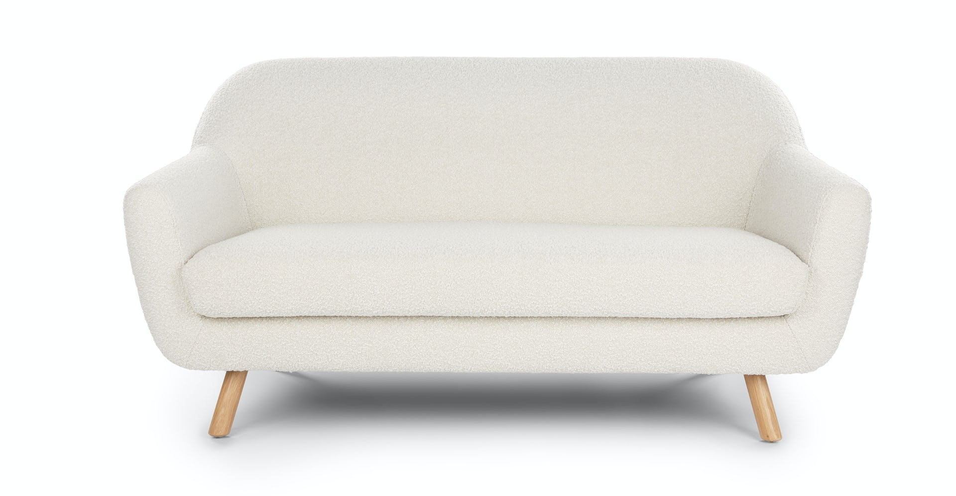Incredible Gabriola Ivory Boucle Loveseat Gmtry Best Dining Table And Chair Ideas Images Gmtryco