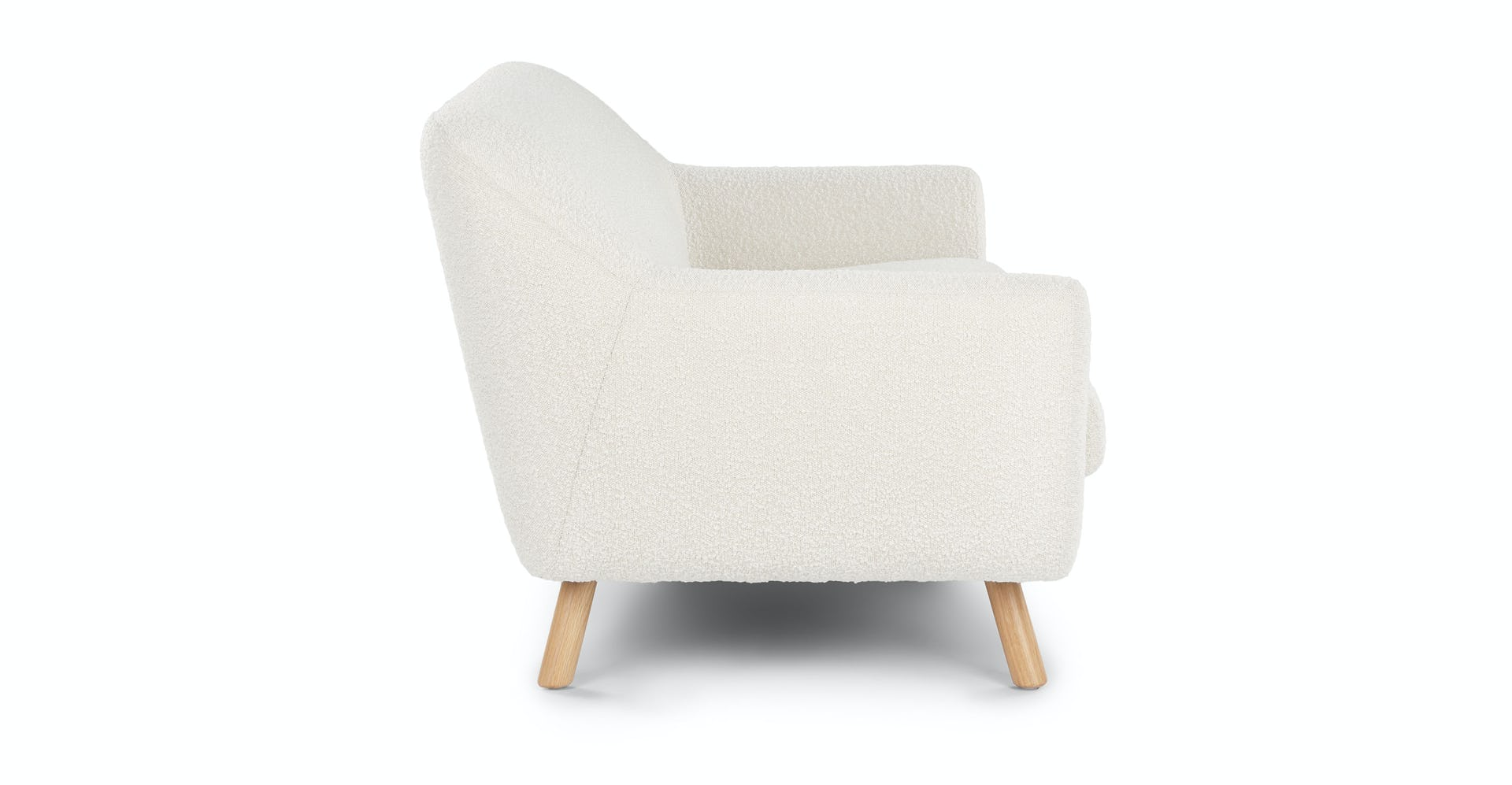 Awe Inspiring Gabriola Ivory Boucle Loveseat Gmtry Best Dining Table And Chair Ideas Images Gmtryco