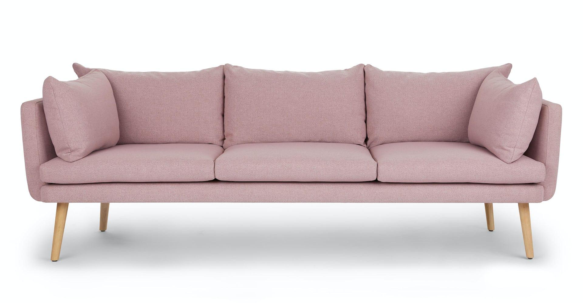 Blossom Pink Celsa 3 Seater Fabric Sofa