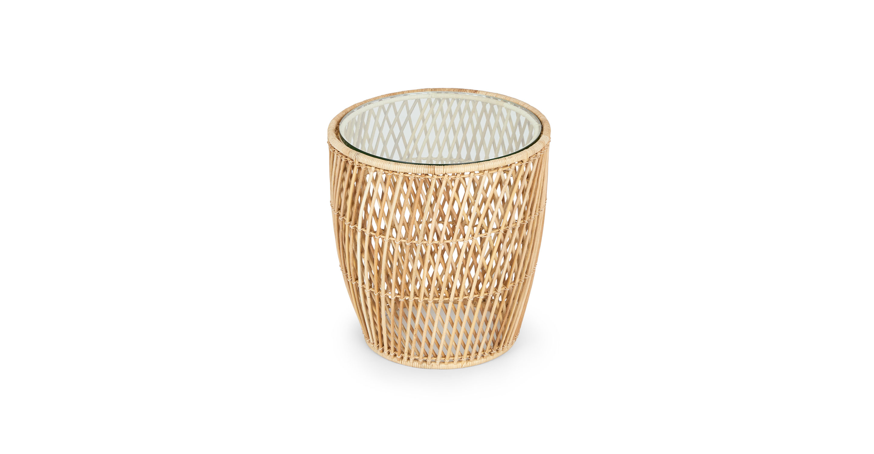 Picture of: Natural Rattan Glass Side Table Catta Article