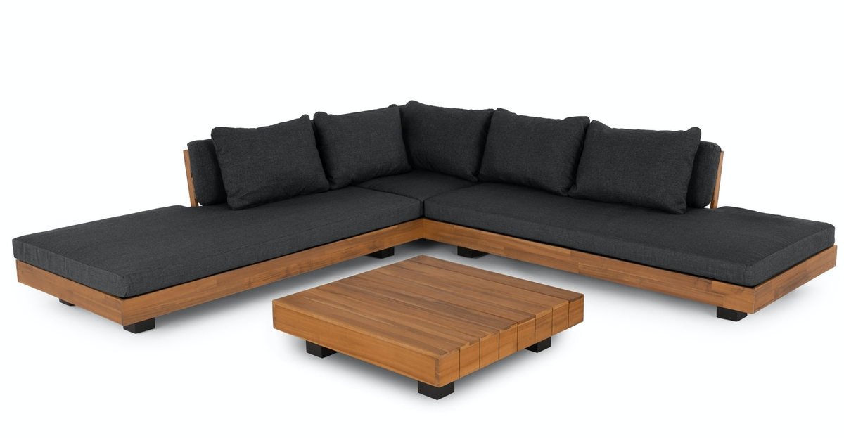 Shop Lubek Slate Gray Sectional Set from Article on Openhaus