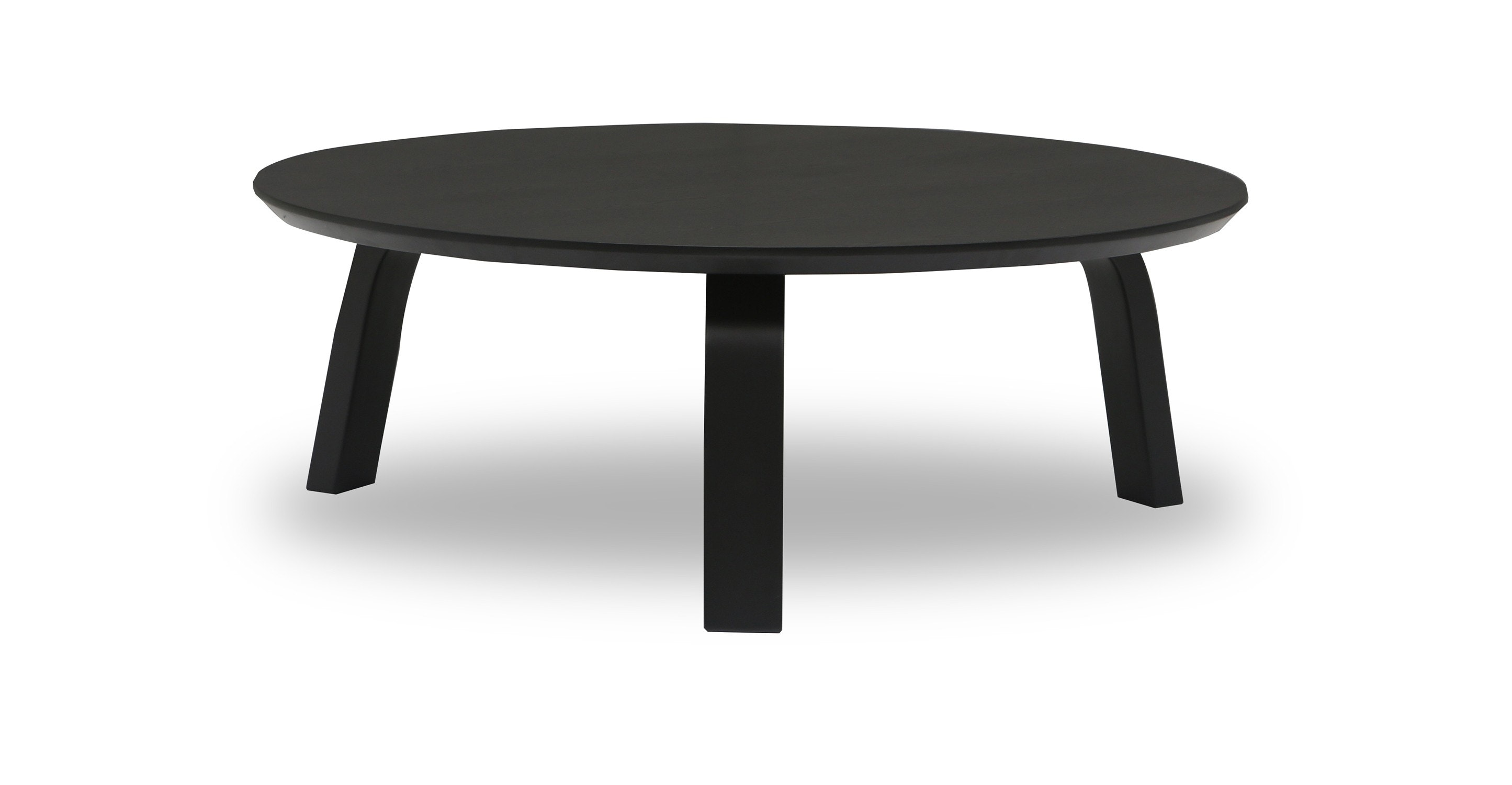 Nes Ebony Wood Round Coffee Table Coffee Tables Article