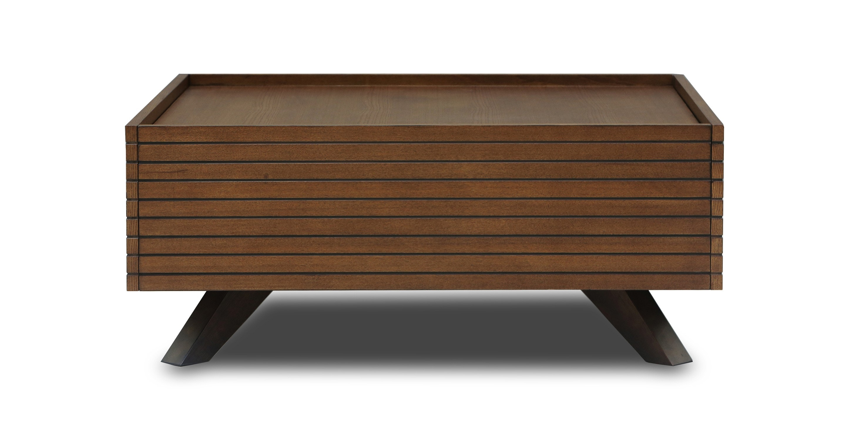 Merveilleux Strip Cocoa Wood Coffee Table