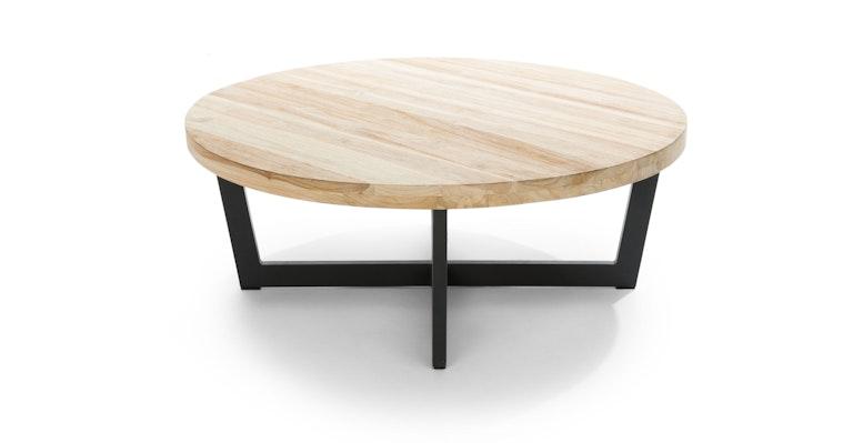 Natural Teak Wood Outdoor Coffee Table, Round Teak Coffee Table