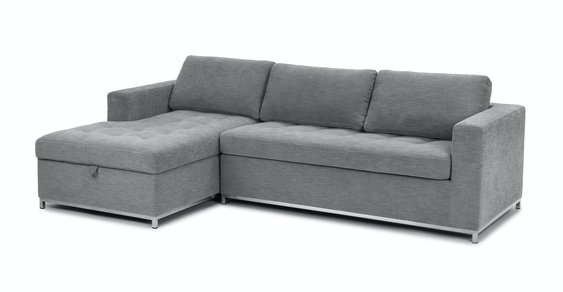 Soma Dawn Gray Left Sofa Bed