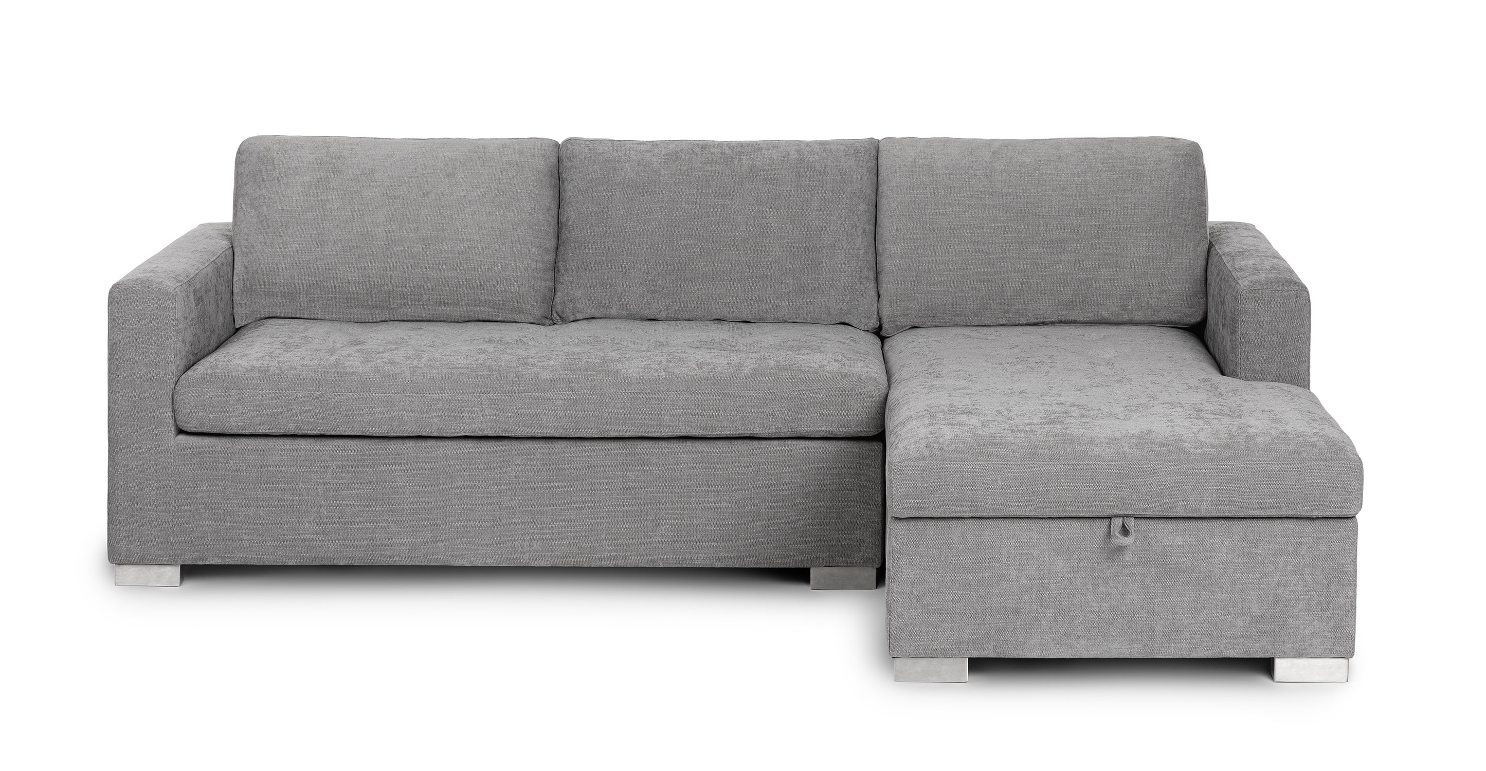 Dawn Gray Fabric Sectional Sofa Bed, How To Cover A Sleeper Sofa