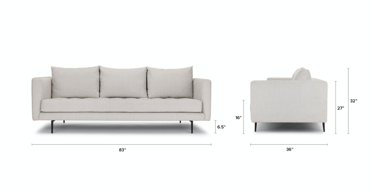 Awe Inspiring Parker Coconut White Sofa Pdpeps Interior Chair Design Pdpepsorg