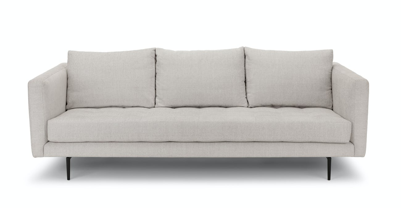 Parker Coconut White Sofa