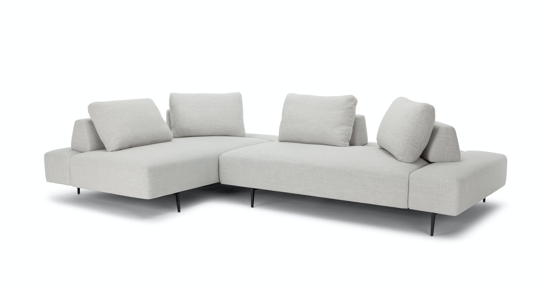 Wondrous Divan Mist Gray Sectional Squirreltailoven Fun Painted Chair Ideas Images Squirreltailovenorg