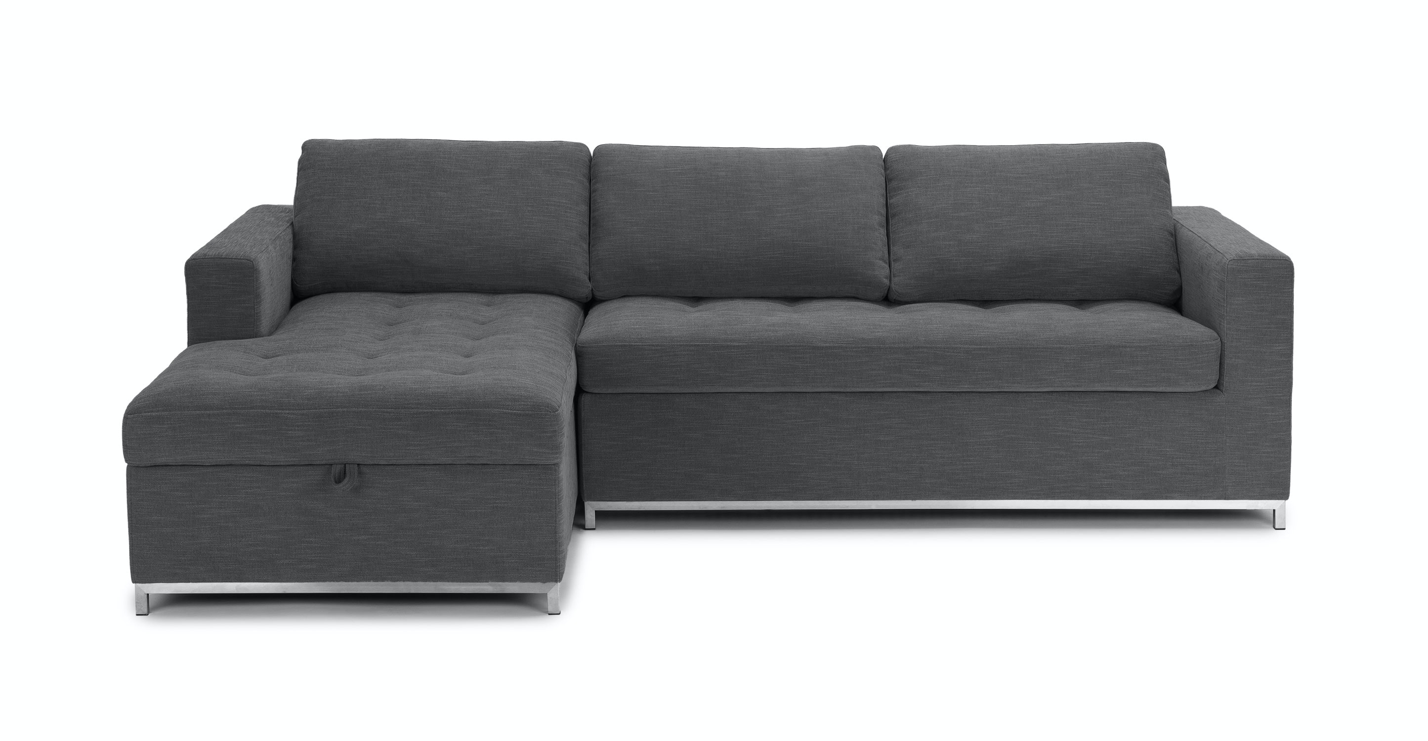 Soma Twilight Gray Left Sofa Bed Sectionals Article Modern Mid Century And Scandinavian Furniture