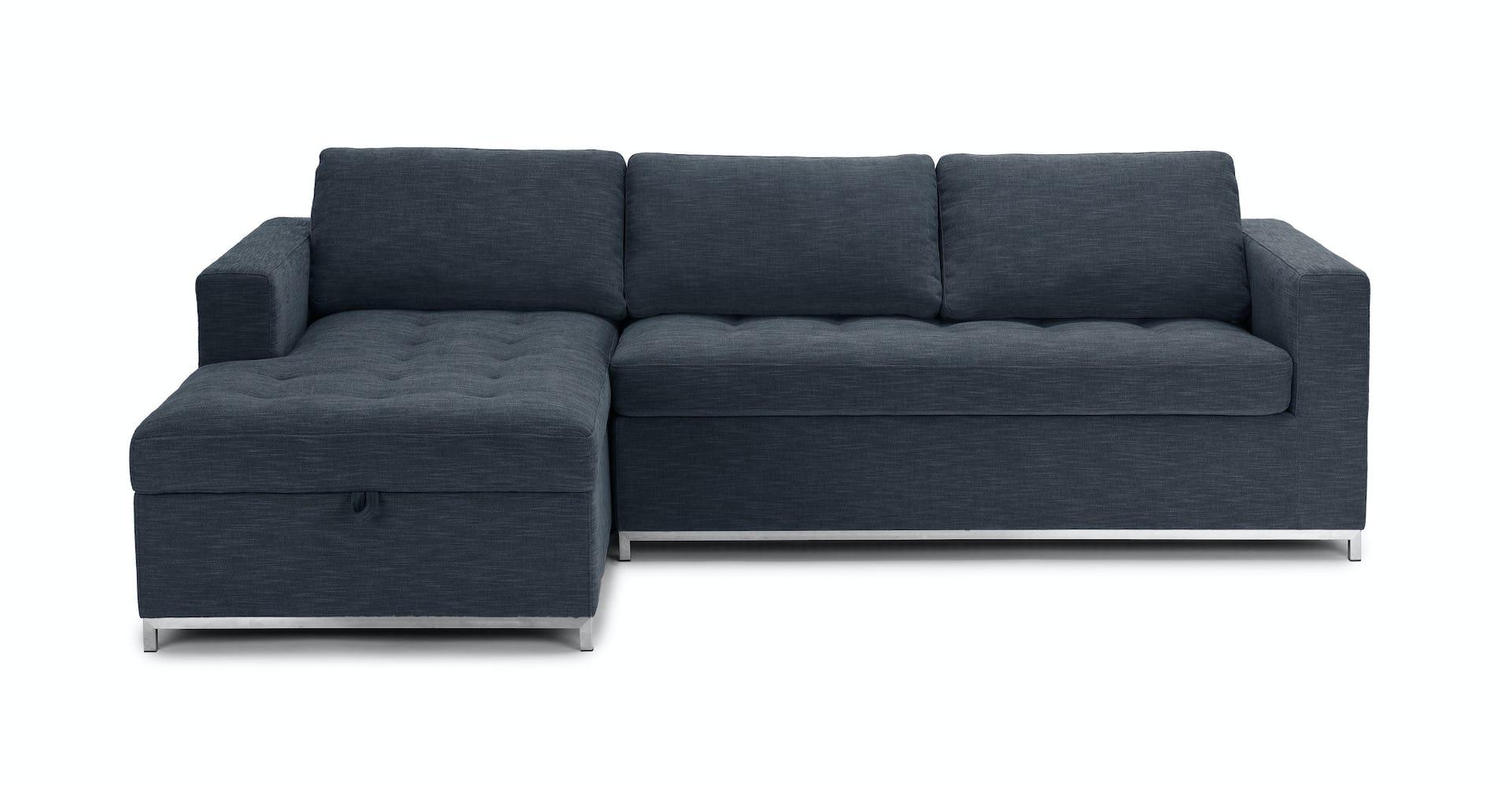 Prime Soma Midnight Blue Left Sofa Bed Lamtechconsult Wood Chair Design Ideas Lamtechconsultcom