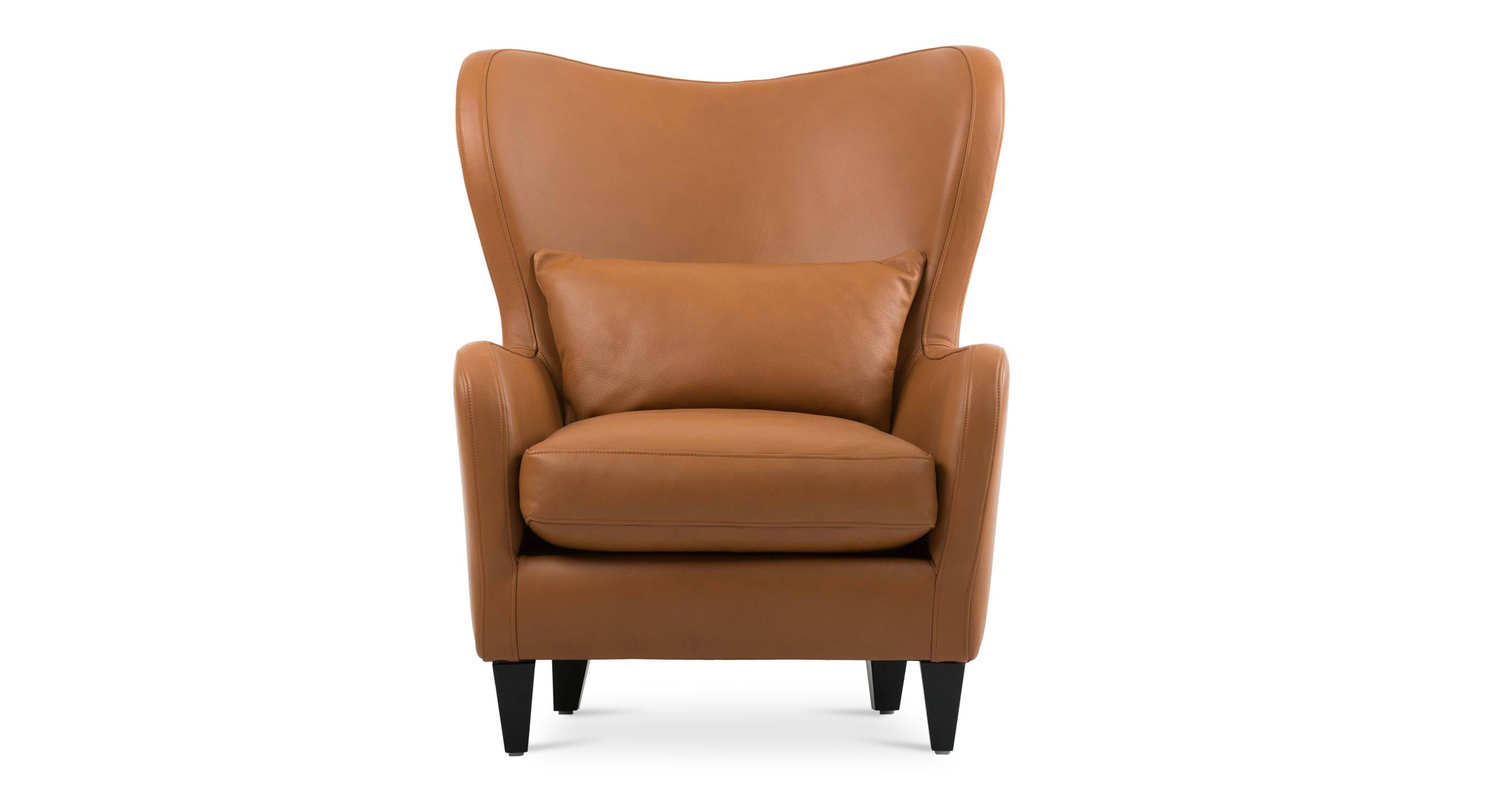 Polo Cognac Tan Leather Armchair Lounge Chairs Article