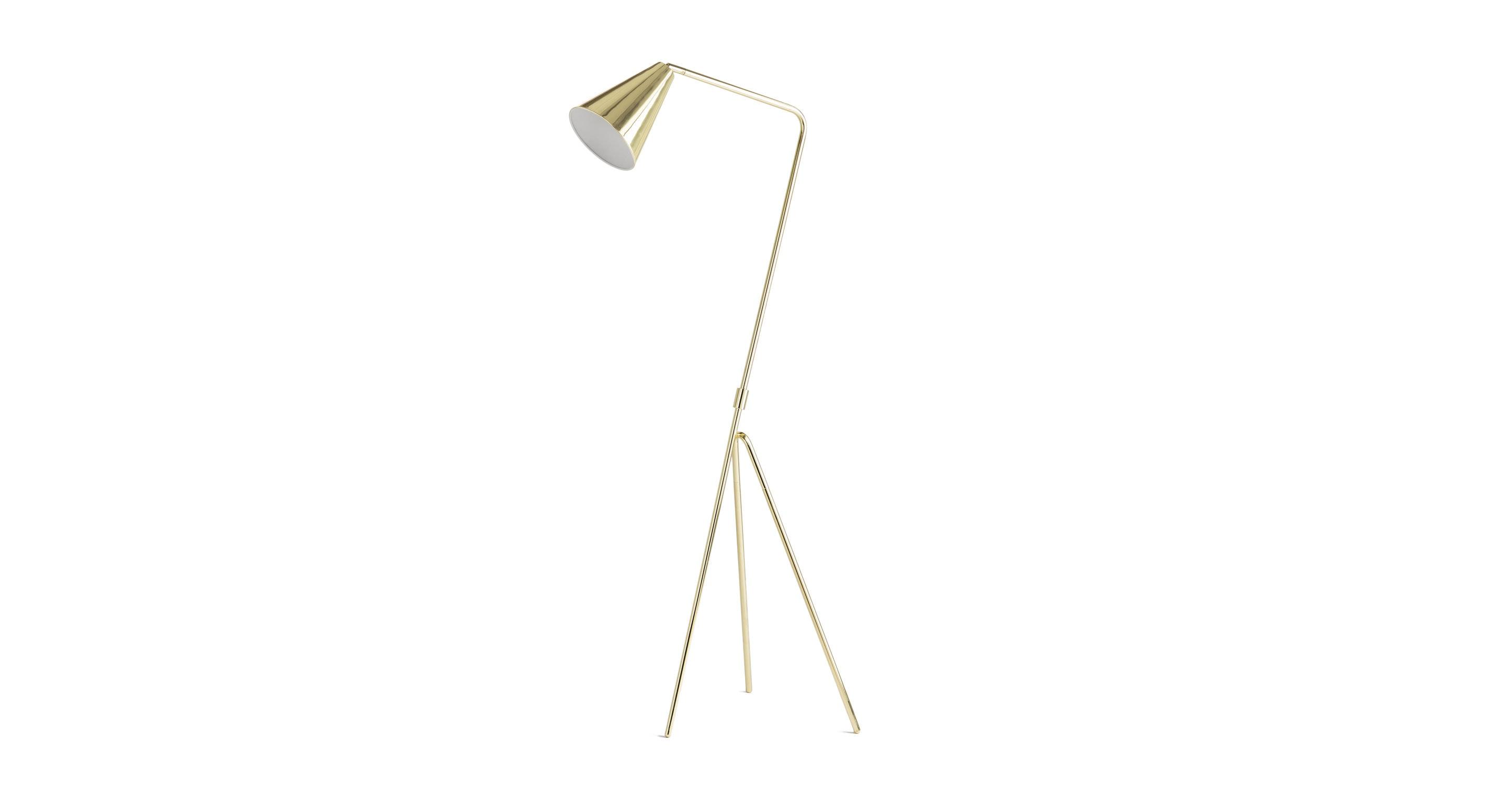 Gira Gold Floor Lamp Article