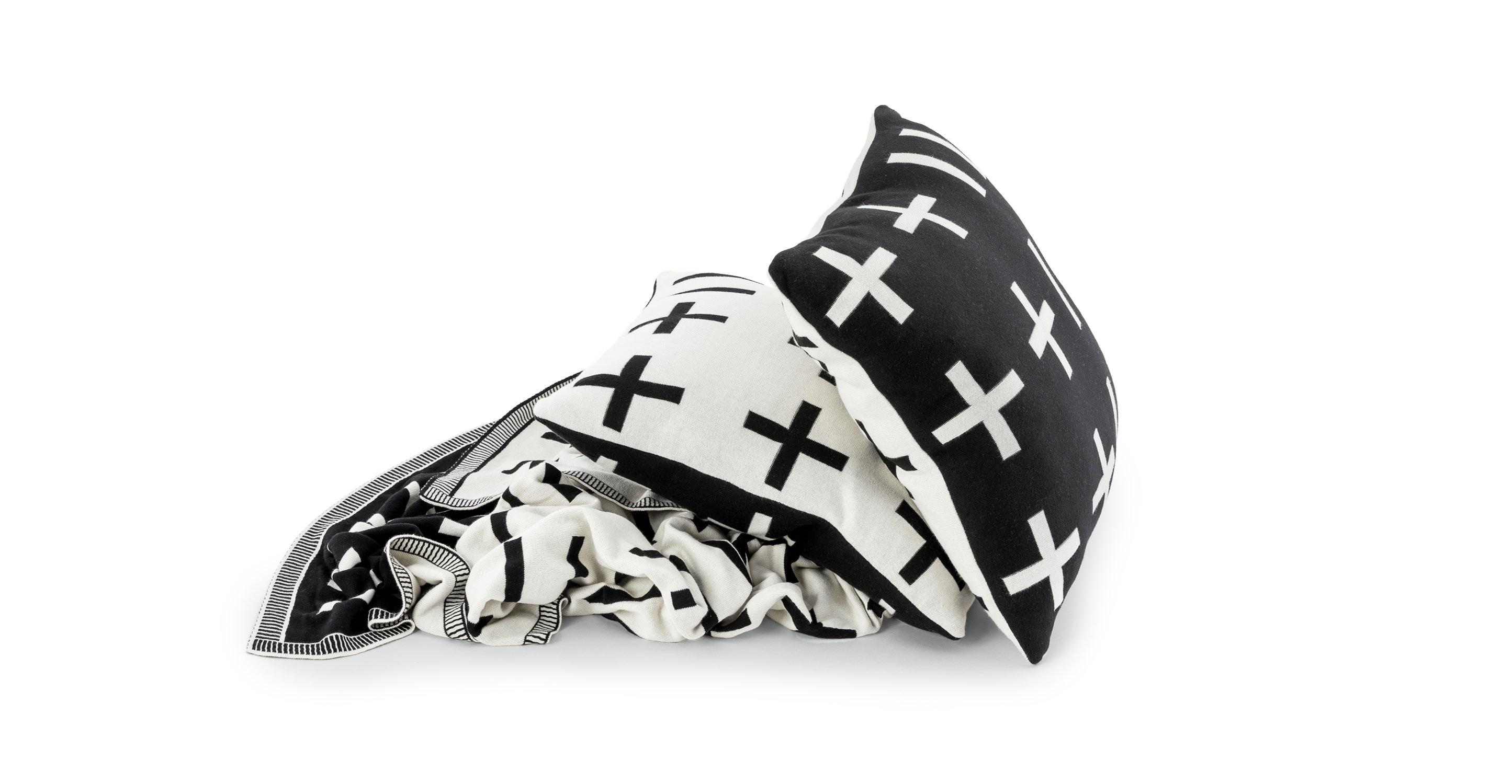 Black And White Throw Pillow Set : Tempe Black / White Throw and Pillow Set - Pillows - Article Modern, Mid-Century and ...