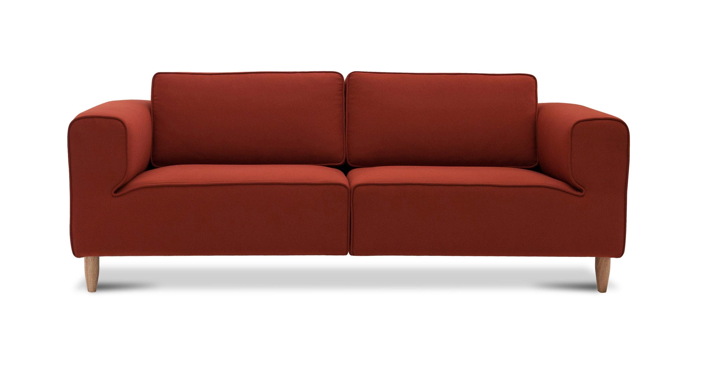 Derby Cinnamon Sofa Sofas Ottomans Article Modern Mid Century And Scandinavian Furniture