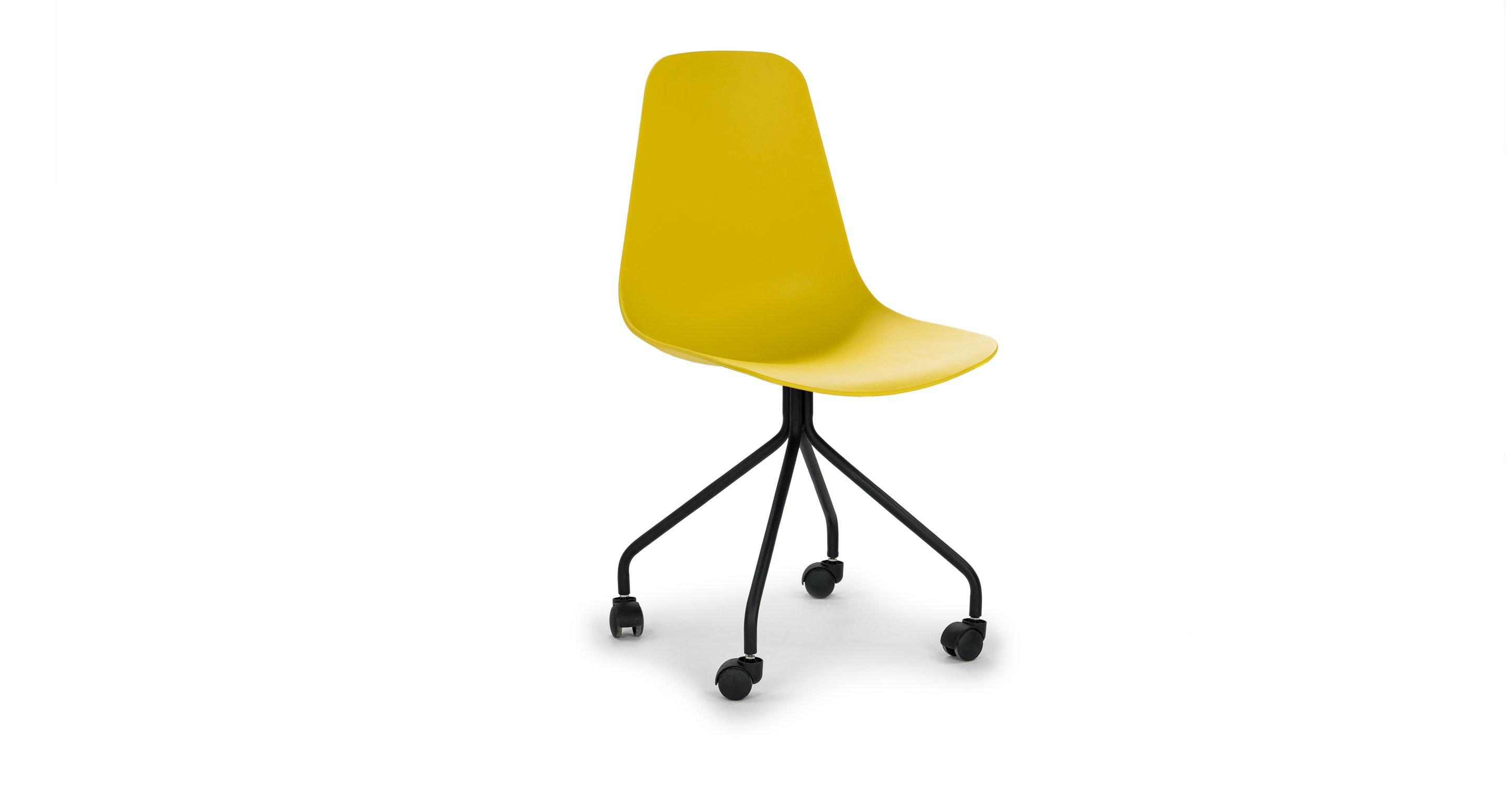 Svelti Daisy Yellow fice Chair Chairs Article