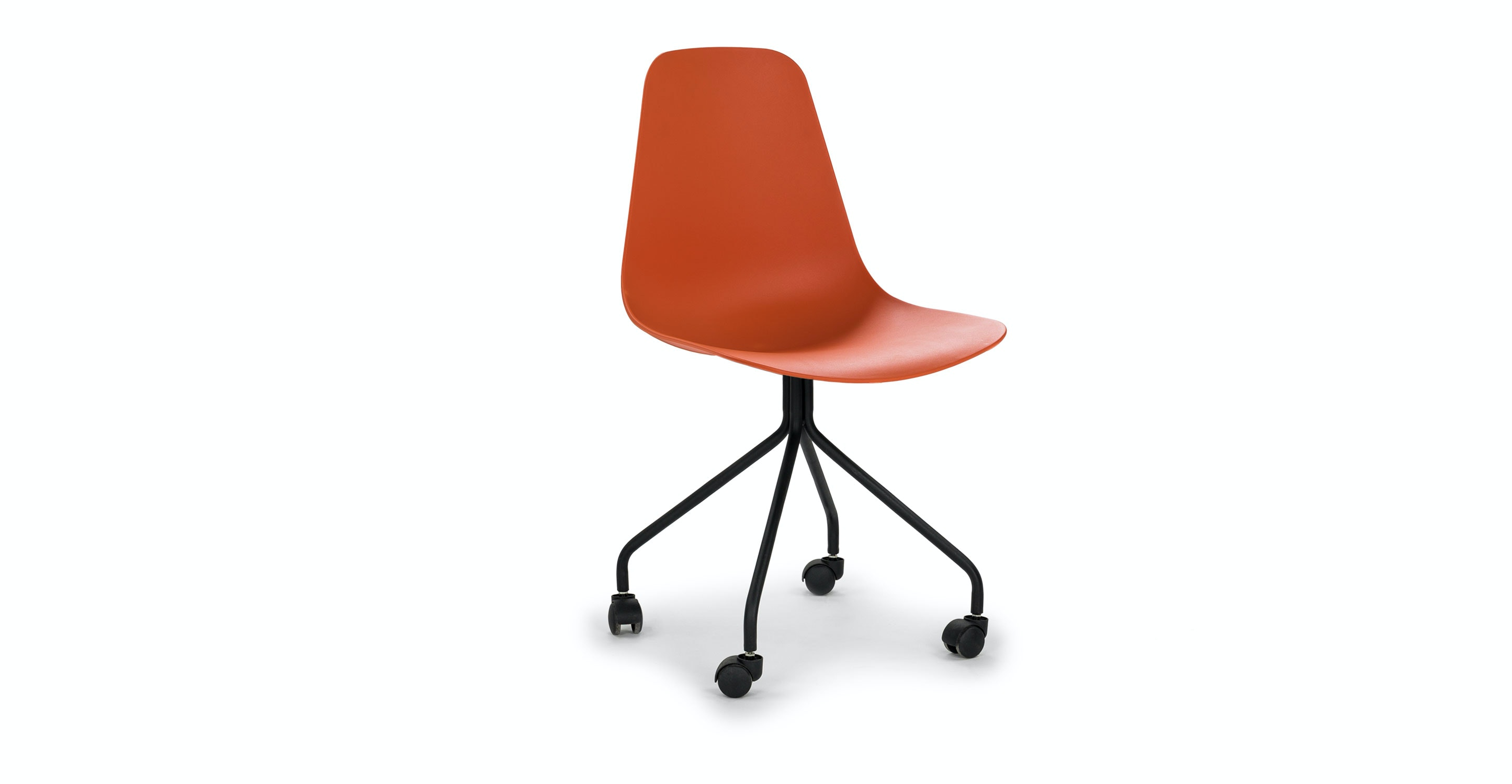 Steelcase Amia fice Chair Profile View In Orange Allsteel