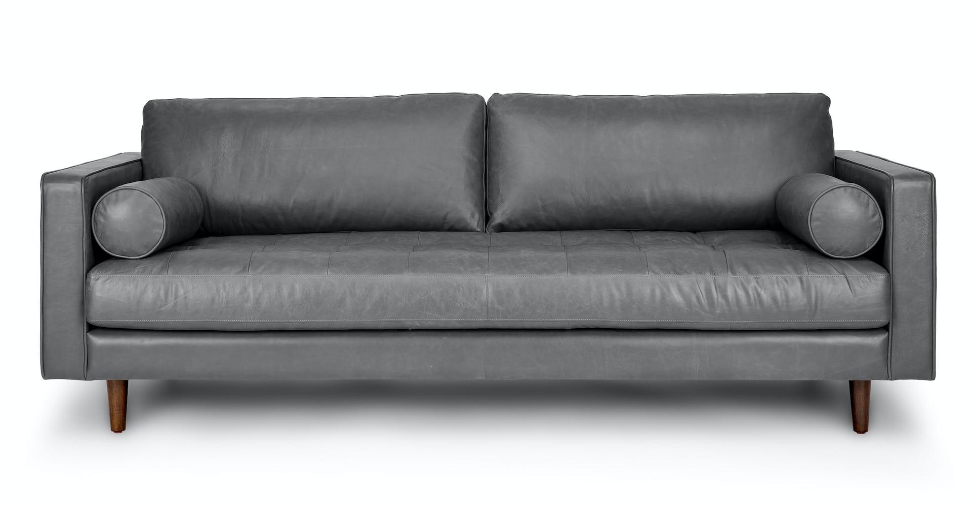 Super Gray Leather Sofa Sven Oxford Gray Sofa Article Machost Co Dining Chair Design Ideas Machostcouk