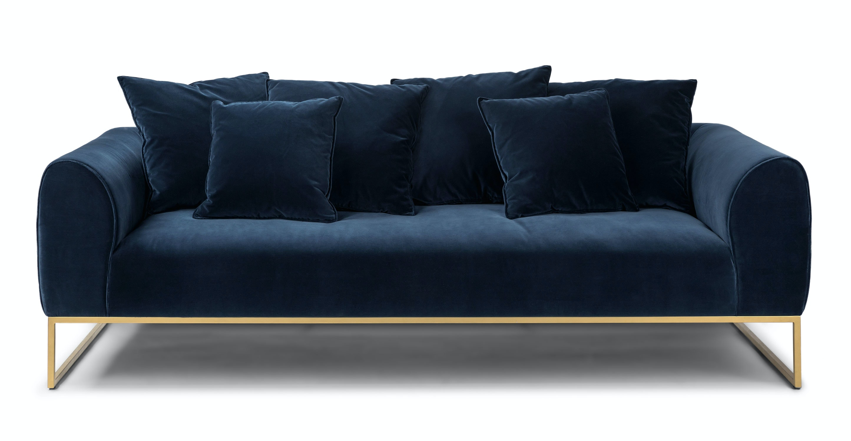 Kits Cascadia Blue Sofa Sofas Article Modern Mid