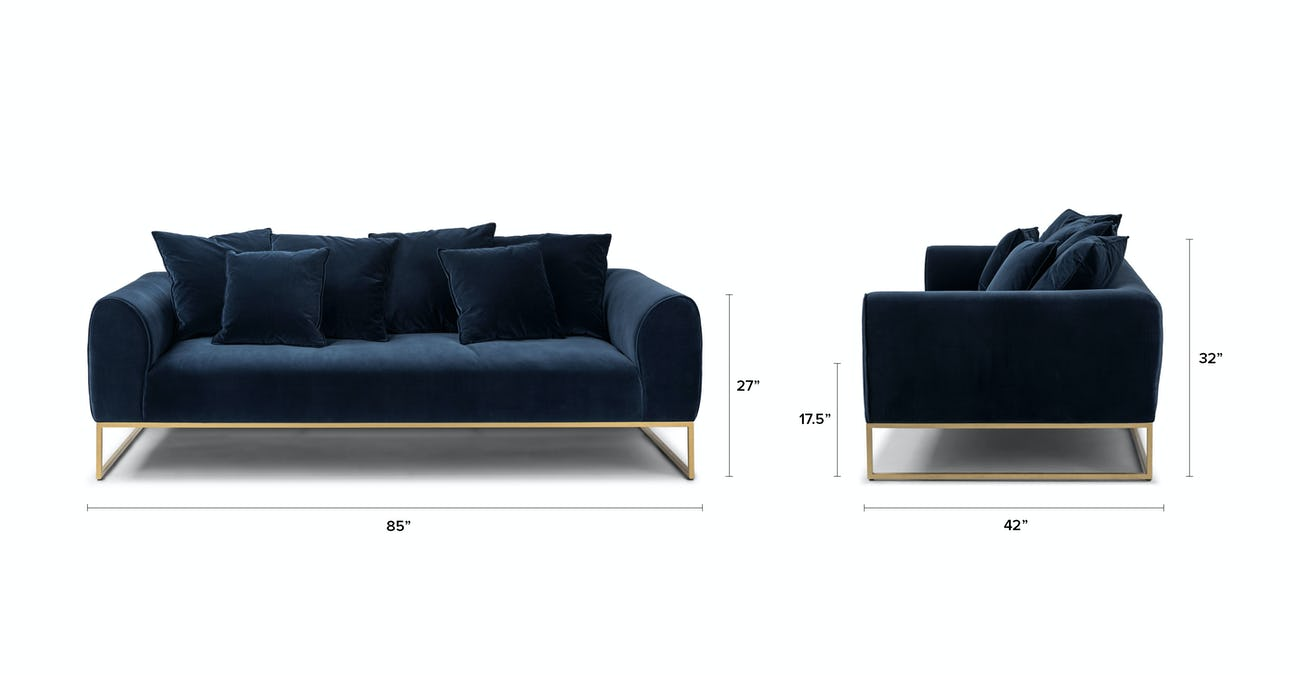 Kits Cascadia Blue Sofa