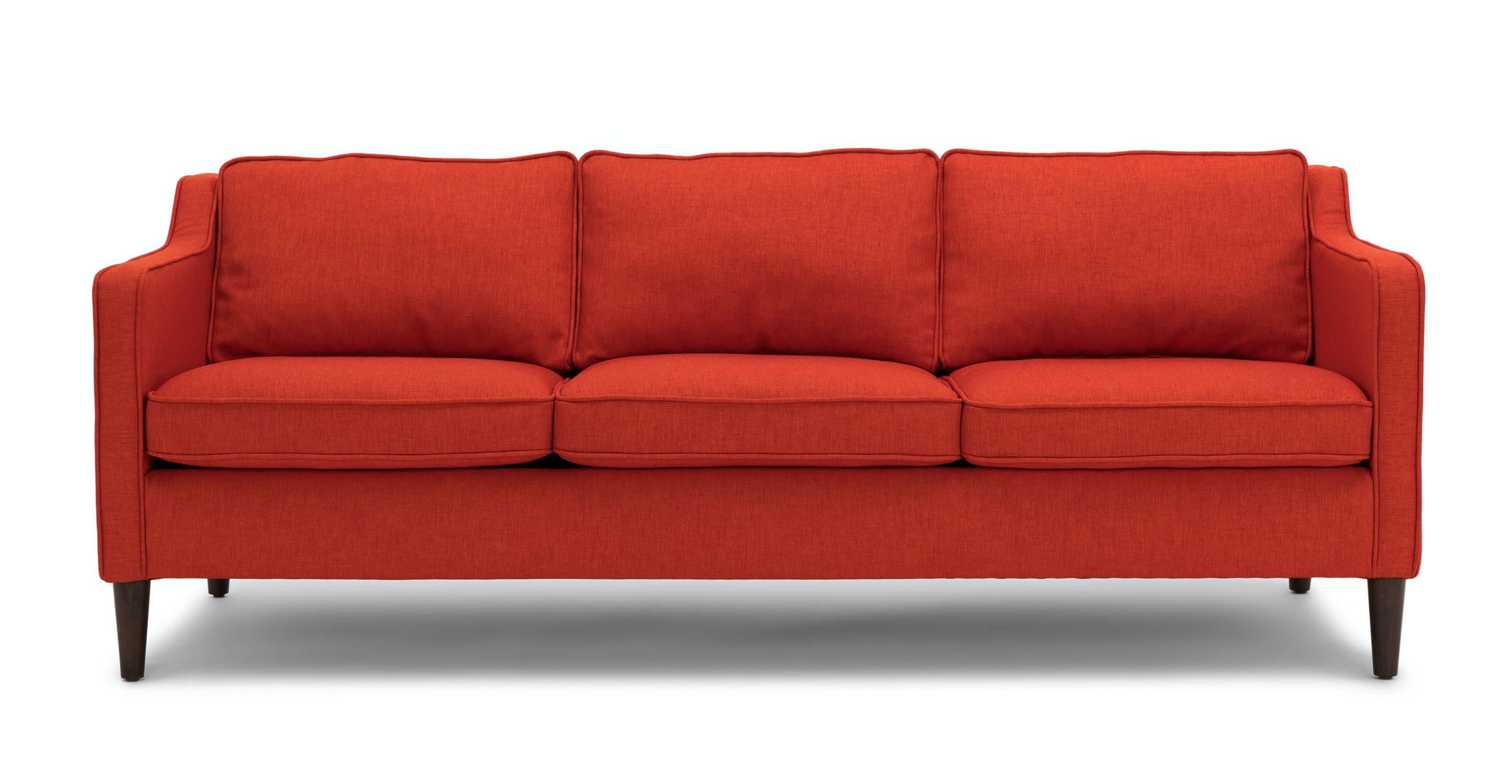 Cherie Fiery Orange Sofa Sofas Article Modern Mid Century And Scandinavian Furniture