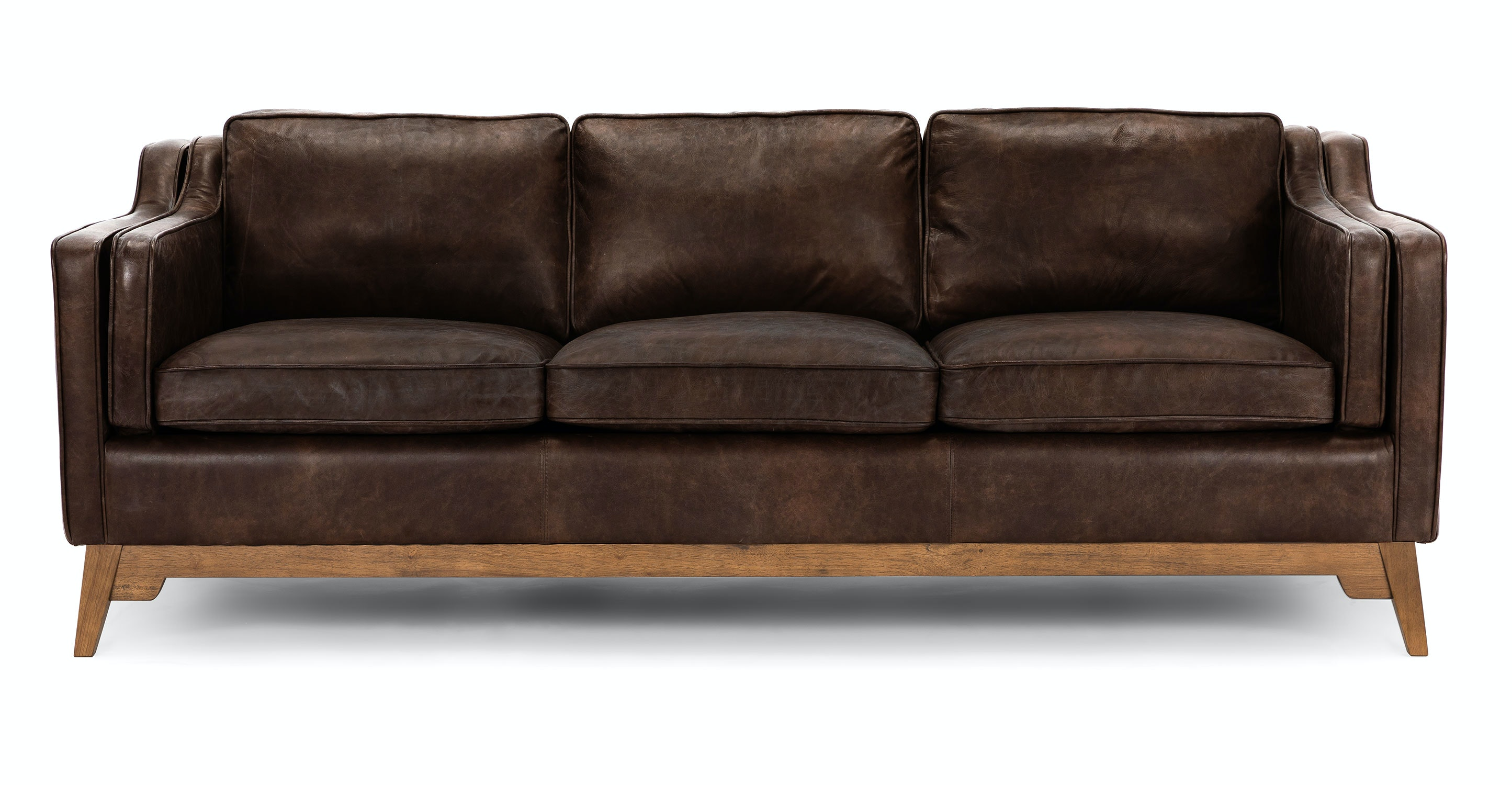 Brown Leather Sofa - Upholstered | Article Worthington Modern Furniture