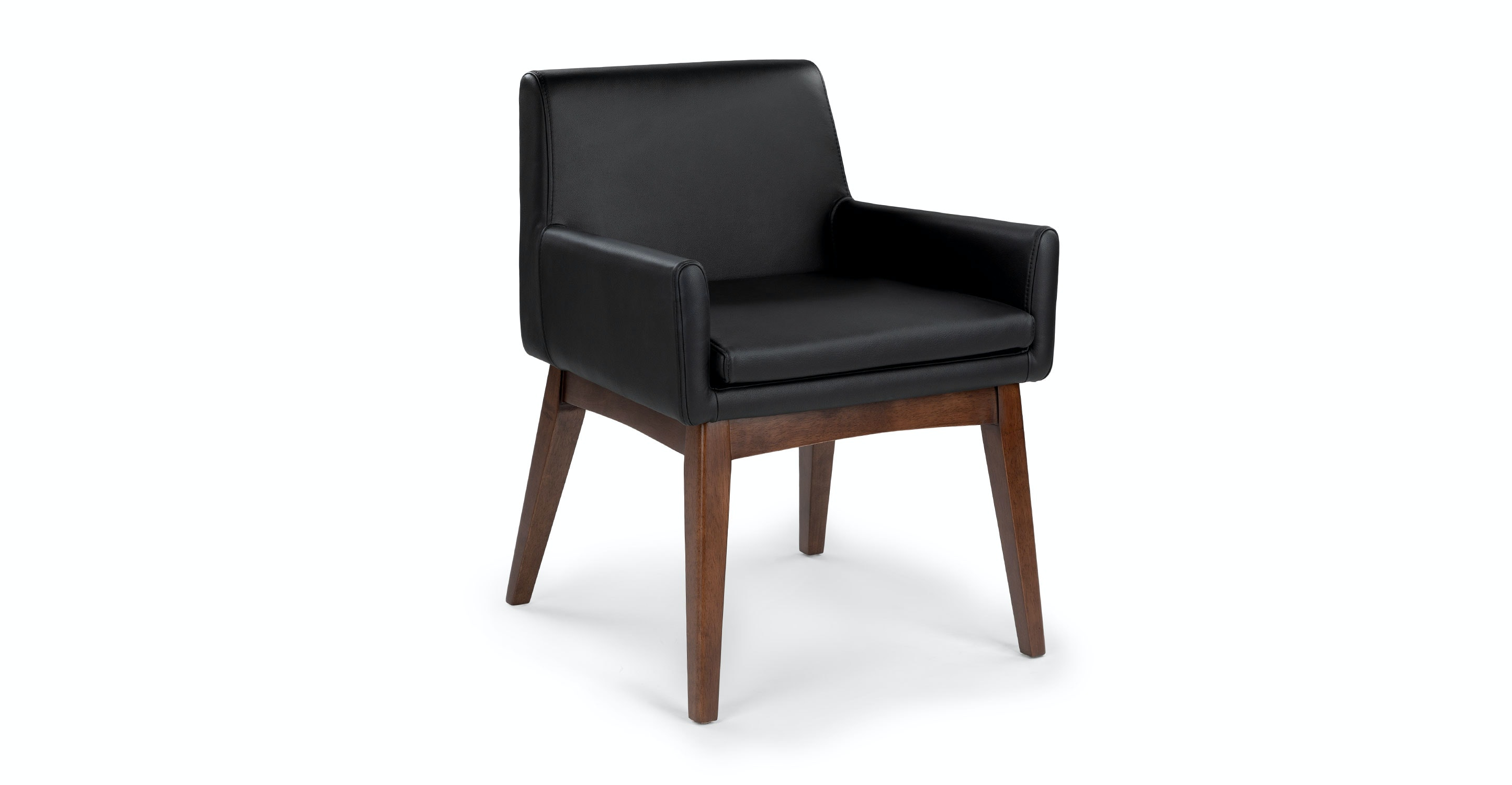 Chanel Black Leather Dining Armchair