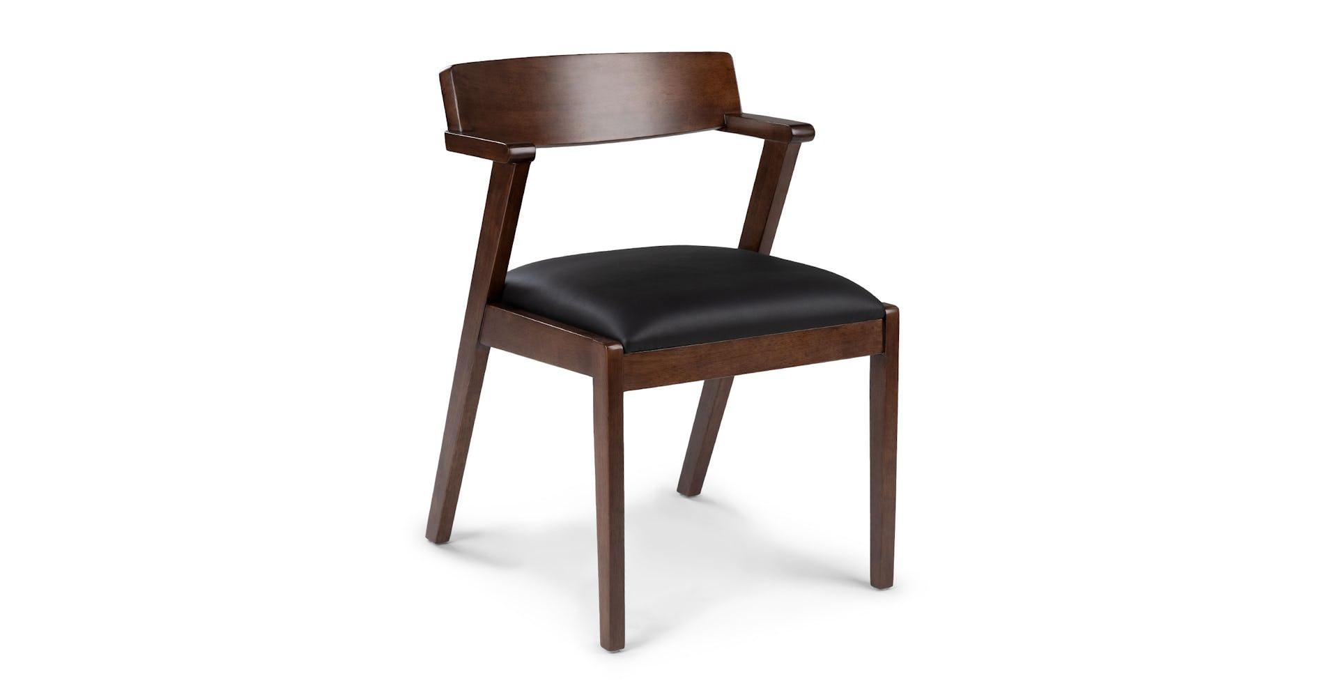 Fantastic Zola Black Leather Dining Chair Inzonedesignstudio Interior Chair Design Inzonedesignstudiocom