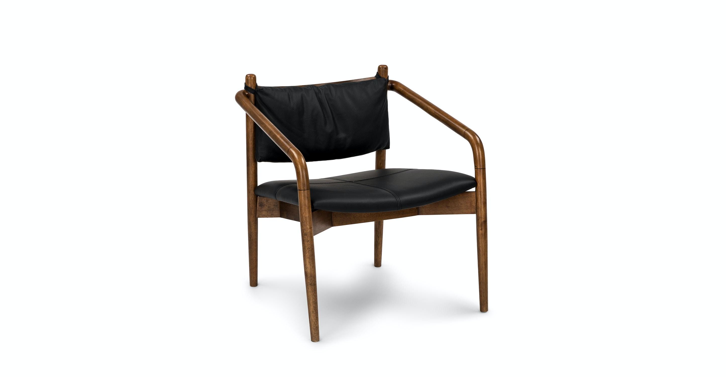Merveilleux Lento Black Leather Lounge Chair