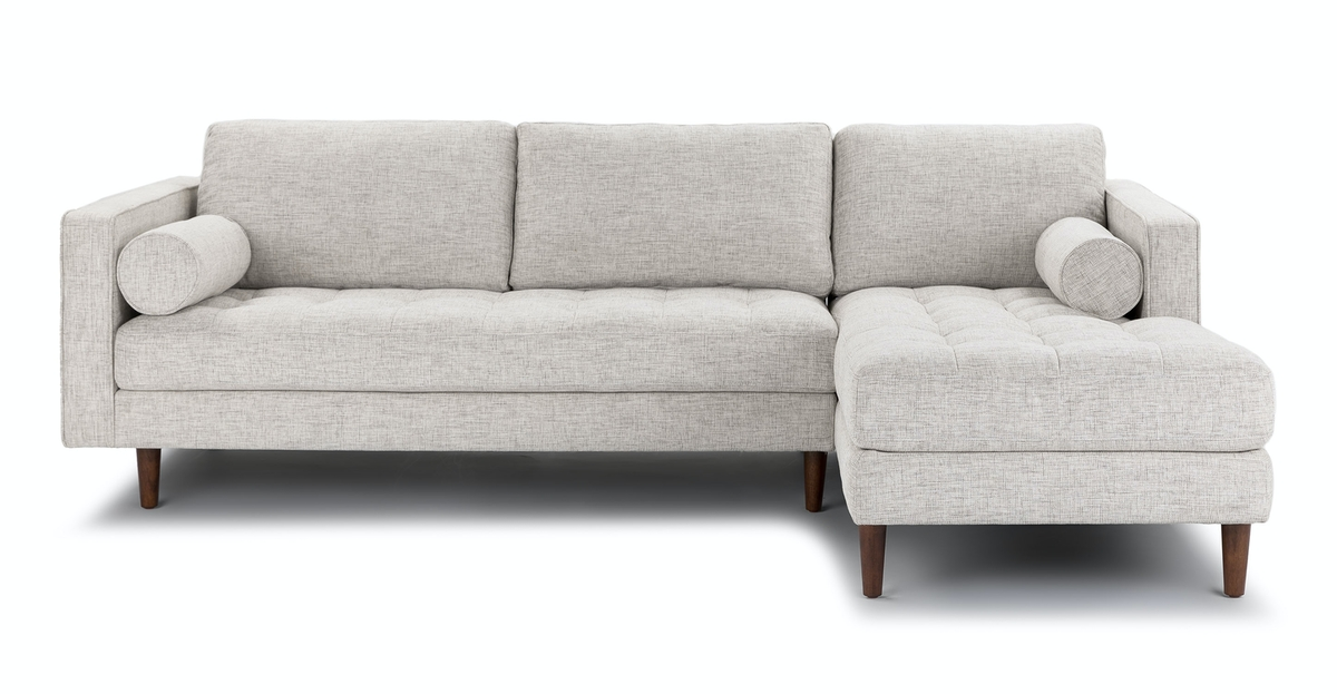 Shop Sven Birch Ivory Right Sectional Sofa from Article on Openhaus