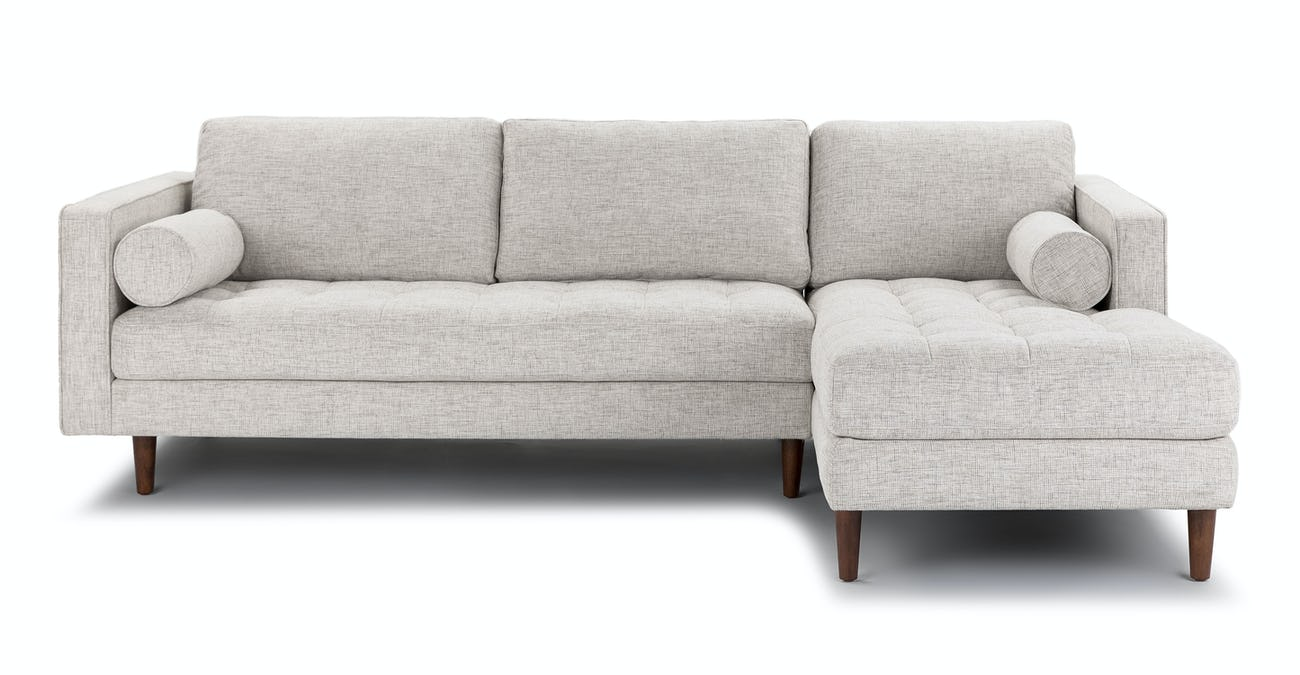 Ivory Right Sectional Sofa - Tufted | Article Sven Modern Furniture